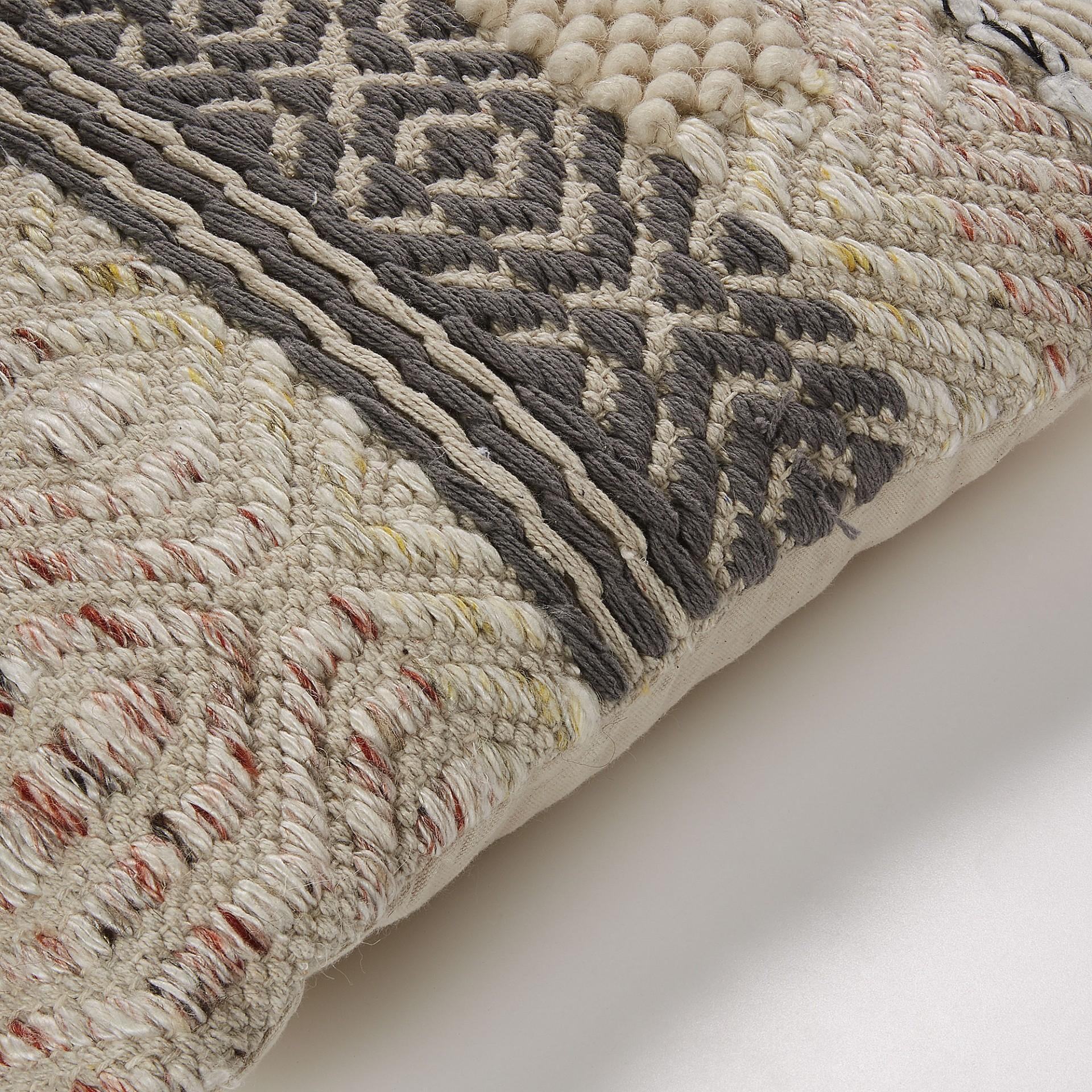 Capa de almofada Feno, bege/cinza, 45x45