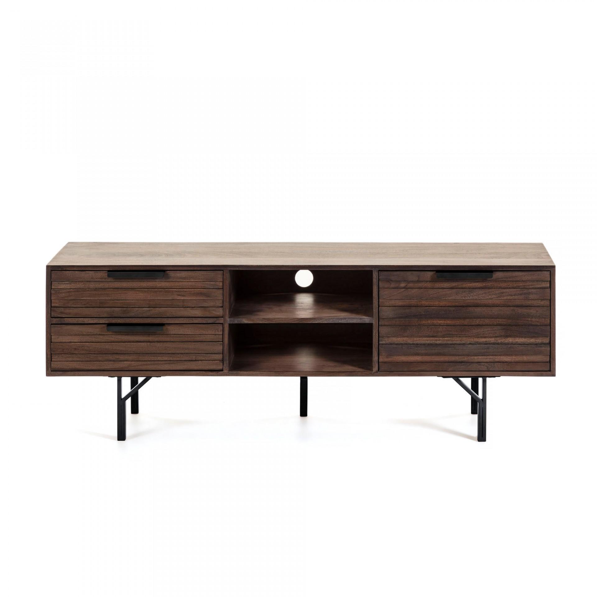 Móvel TV Italia, madeira de acácia/mogno, 160x57
