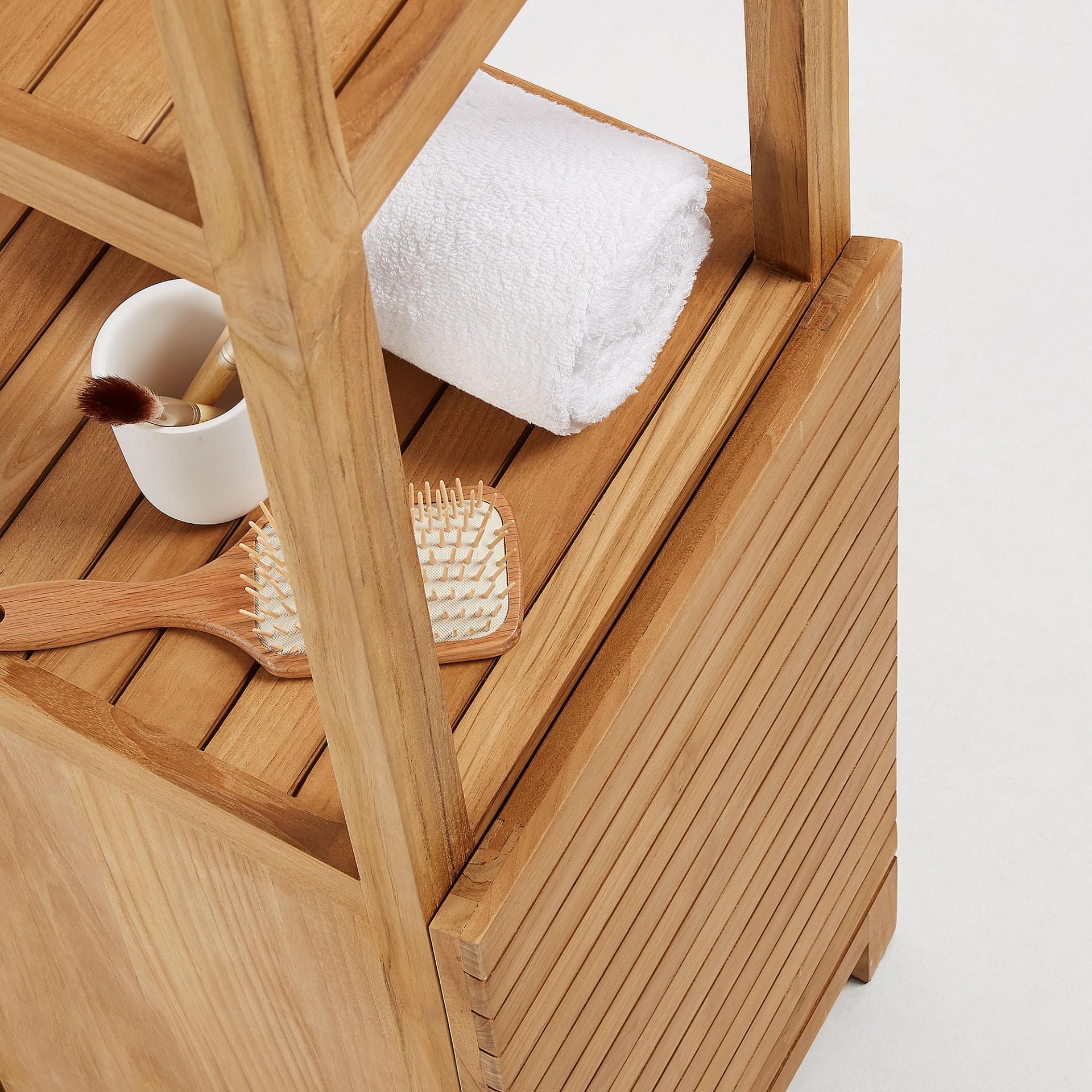 Armário Kuvan, madeira teca, 40x40x182