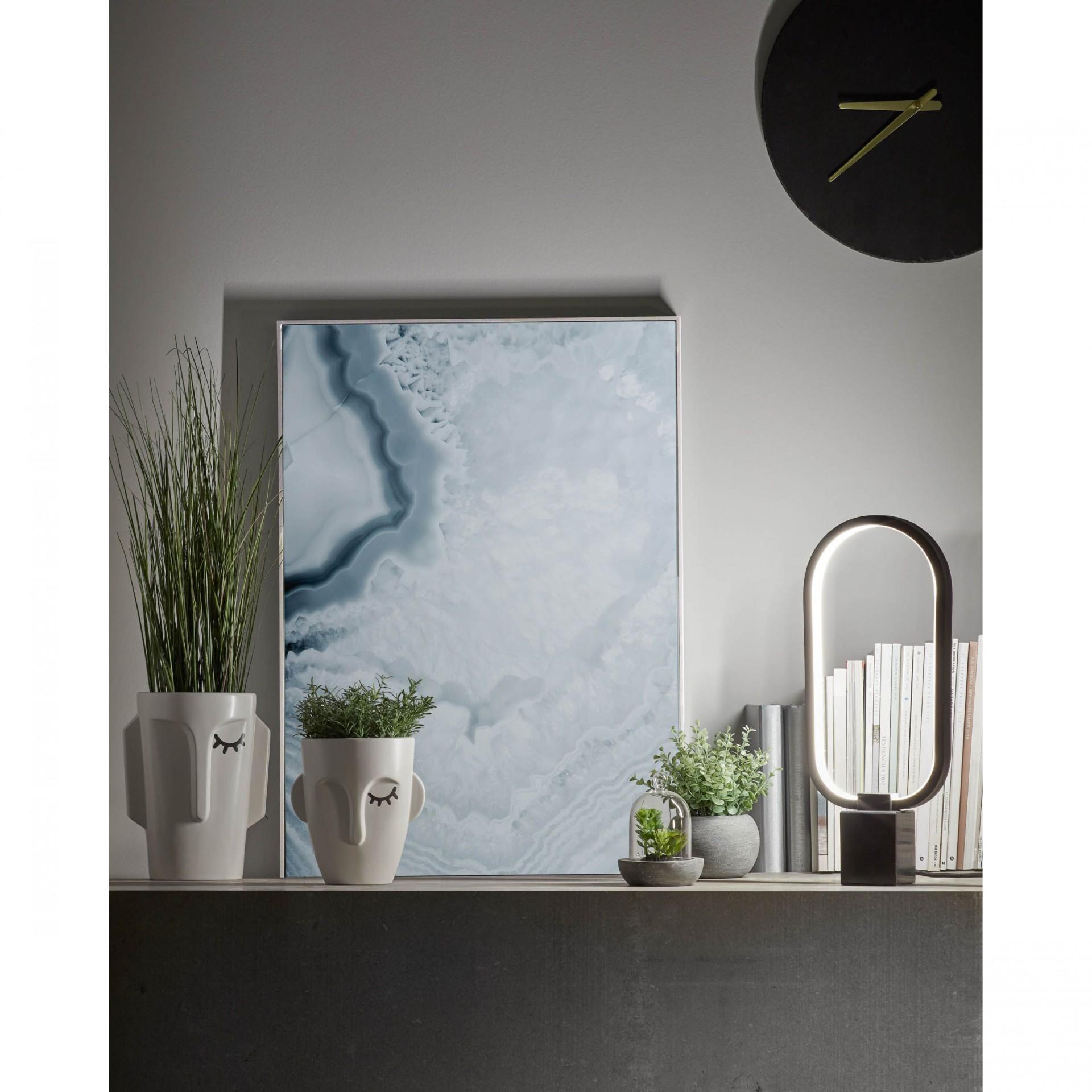 Jarra Amina, dolomite, branco, Ø16x18