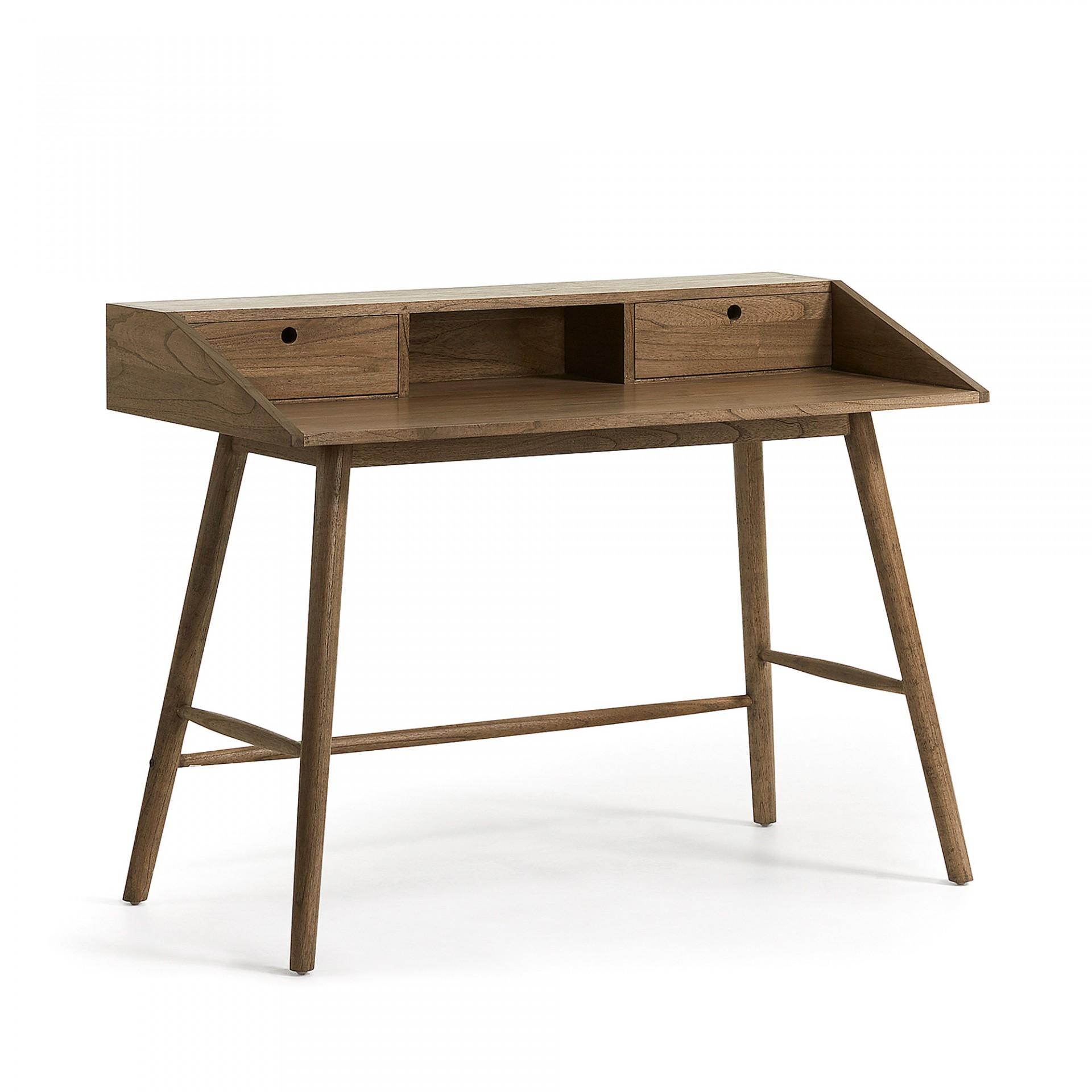 Secretária Nika, madeira de Mindi natural, 120x90