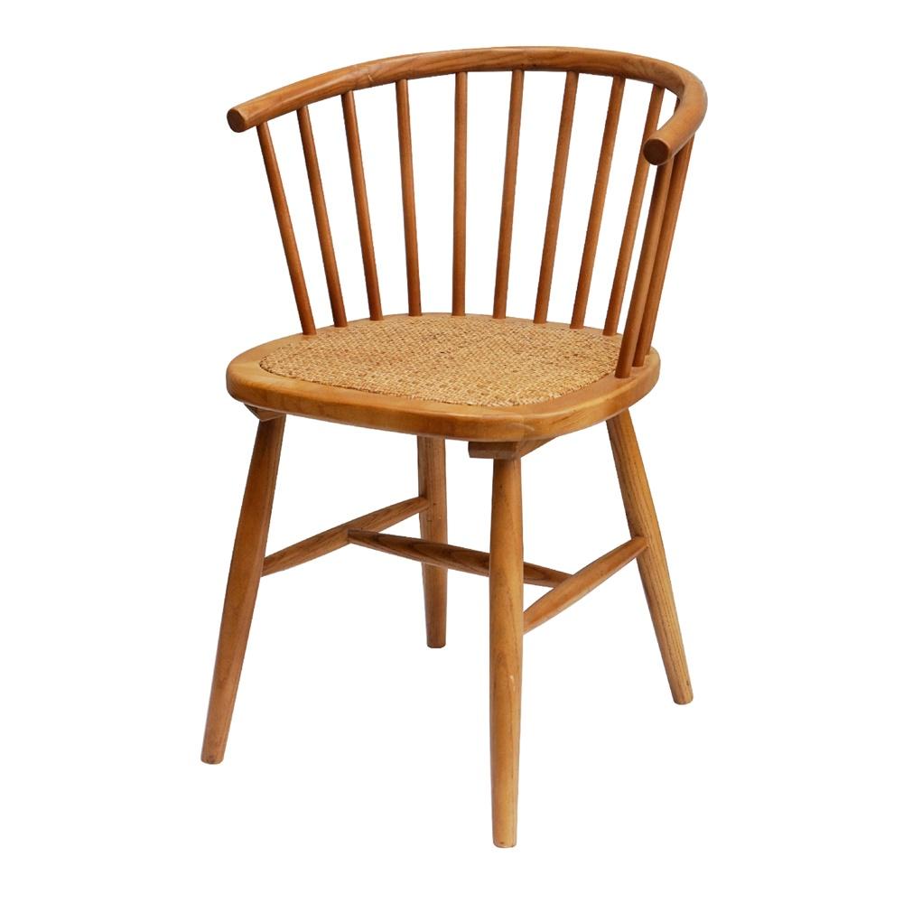 Cadeira Sherry, madeira de olmo/rattan