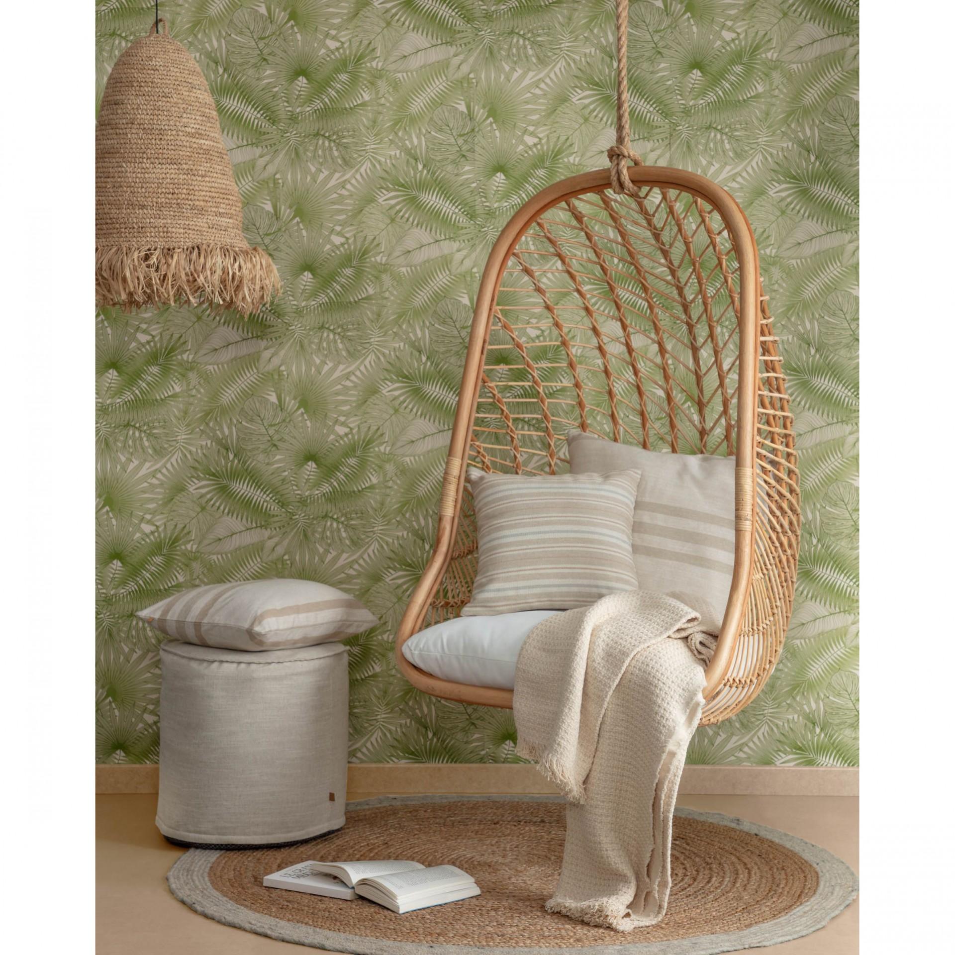 Cadeira suspensa Katerin, rattan natural, 85x72x124