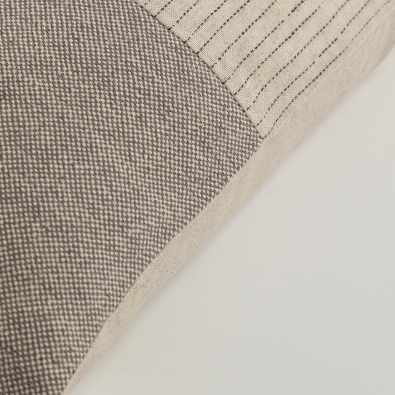 Capa de almofada Sagui, bege/marron, 50x30