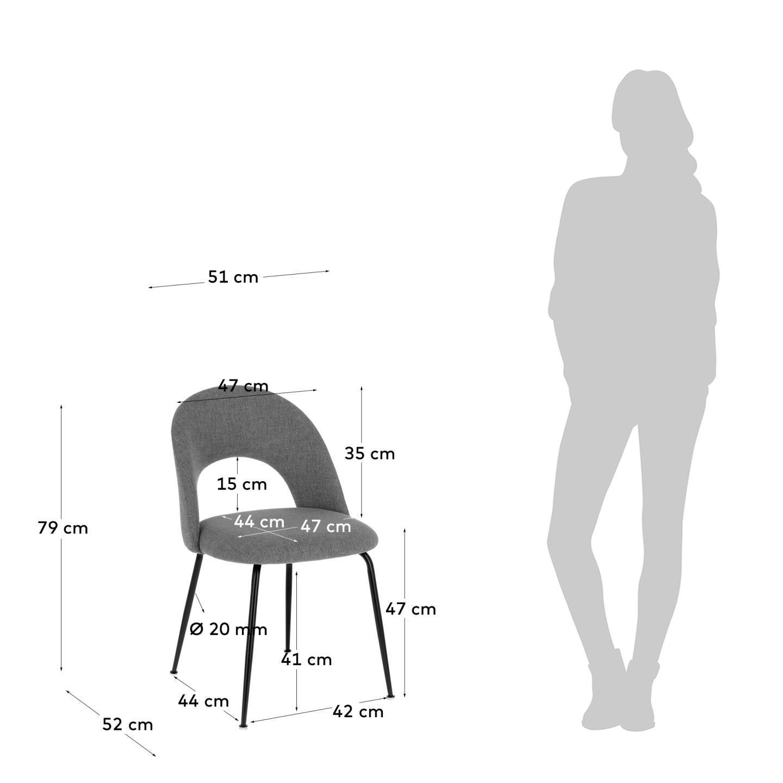 Cadeira Mahlia, estofada