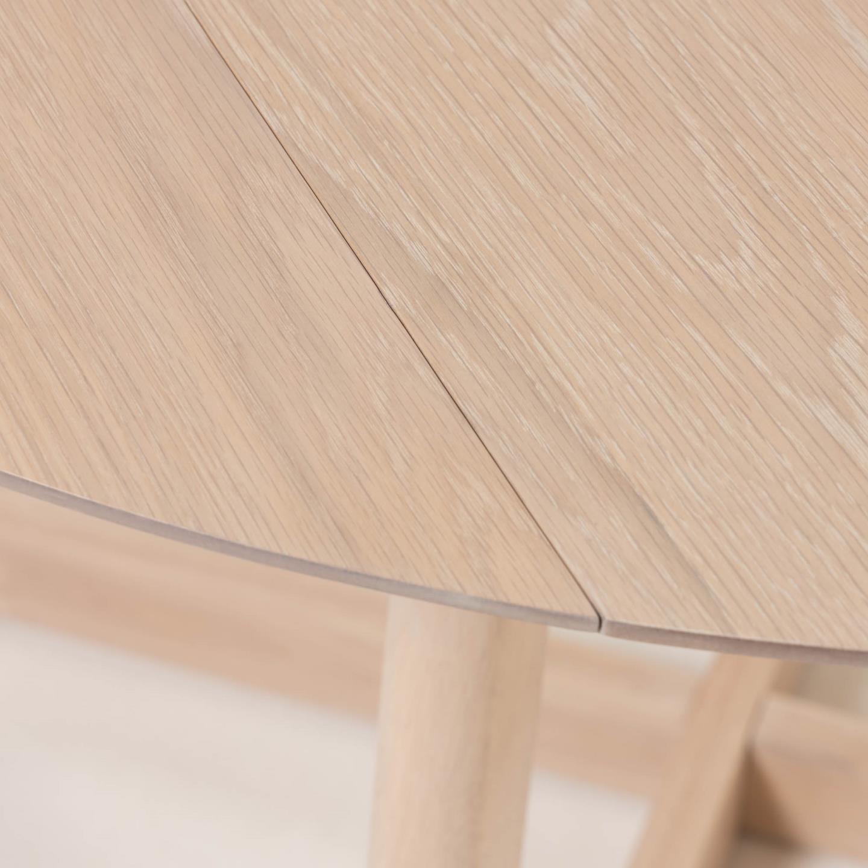 Mesa de jantar Marise, madeira de carvalho, Ø120x75