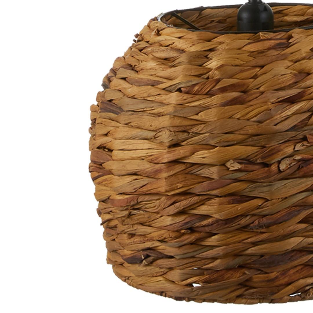 Candeeiro de tecto Brown, mimbre natural, Ø25x34