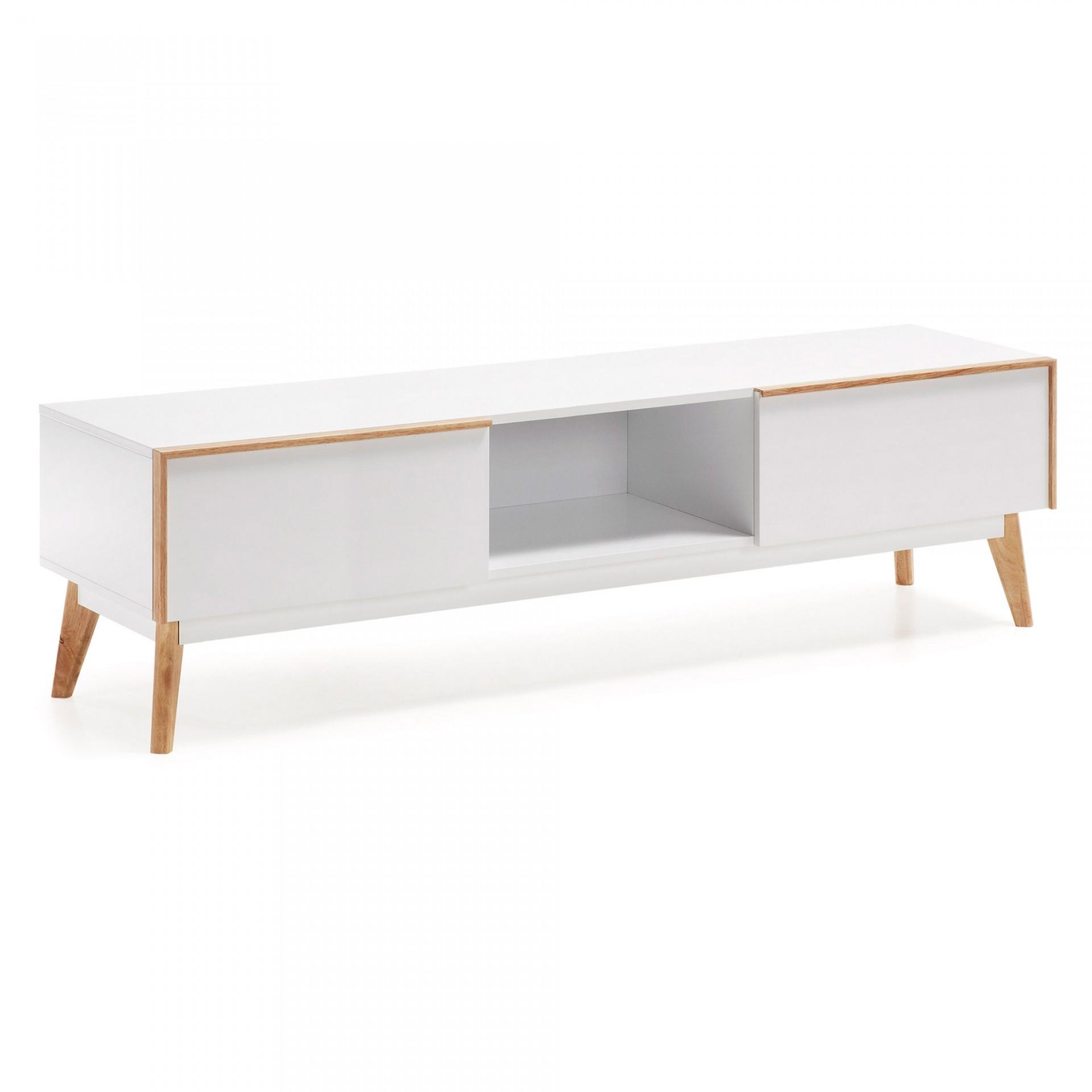 Móvel TV Melon, madeira de carvalho/MDF lacado, 150x45