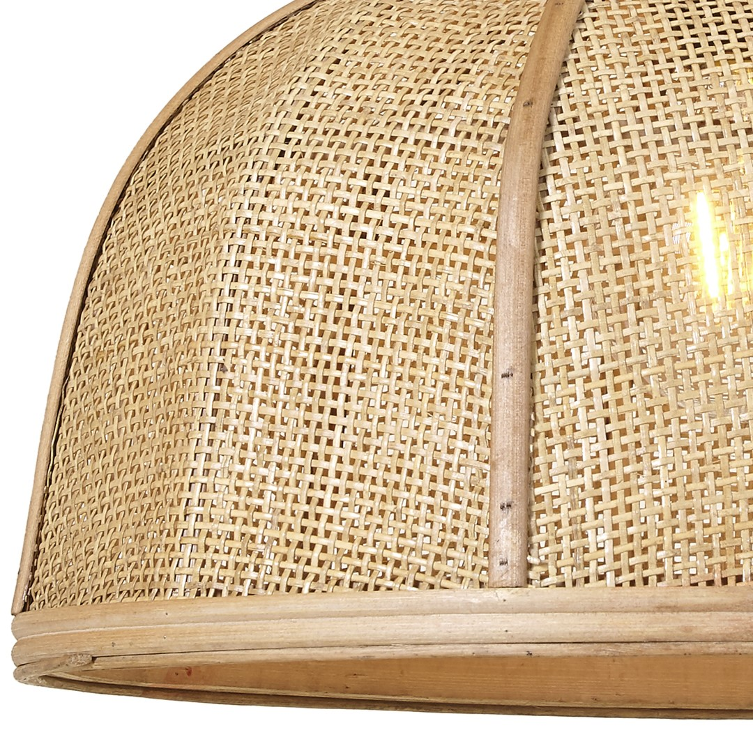 Candeeiro de tecto Nómada, bambu/rattan natural, Ø44x22