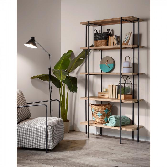 Estante Palma, madeira de manga, 100x191