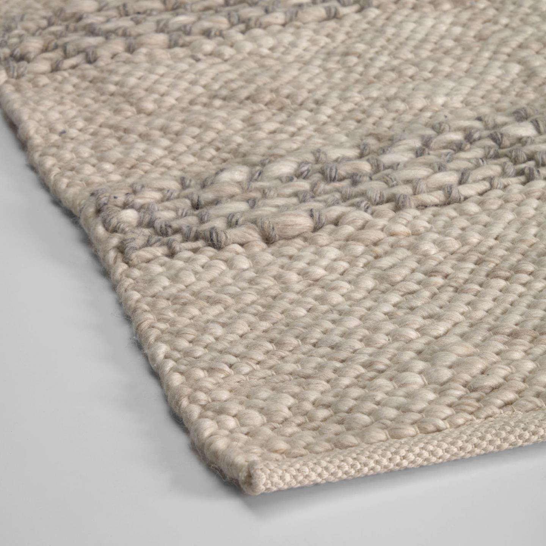 Tapete Aira, lã/algodão, bege, 230x160
