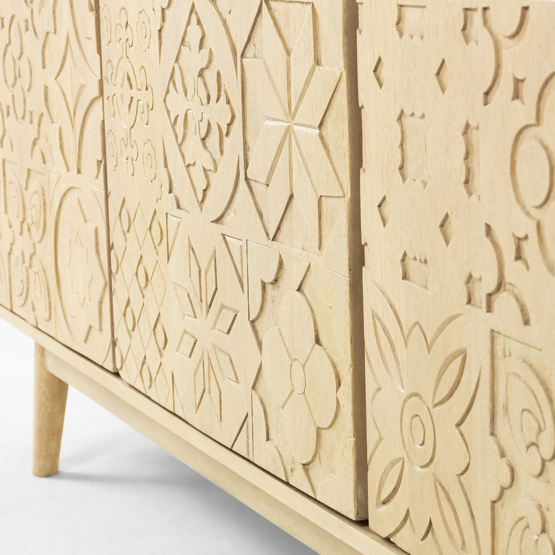 Aparador Selab, madeira de manga natural, 162x75