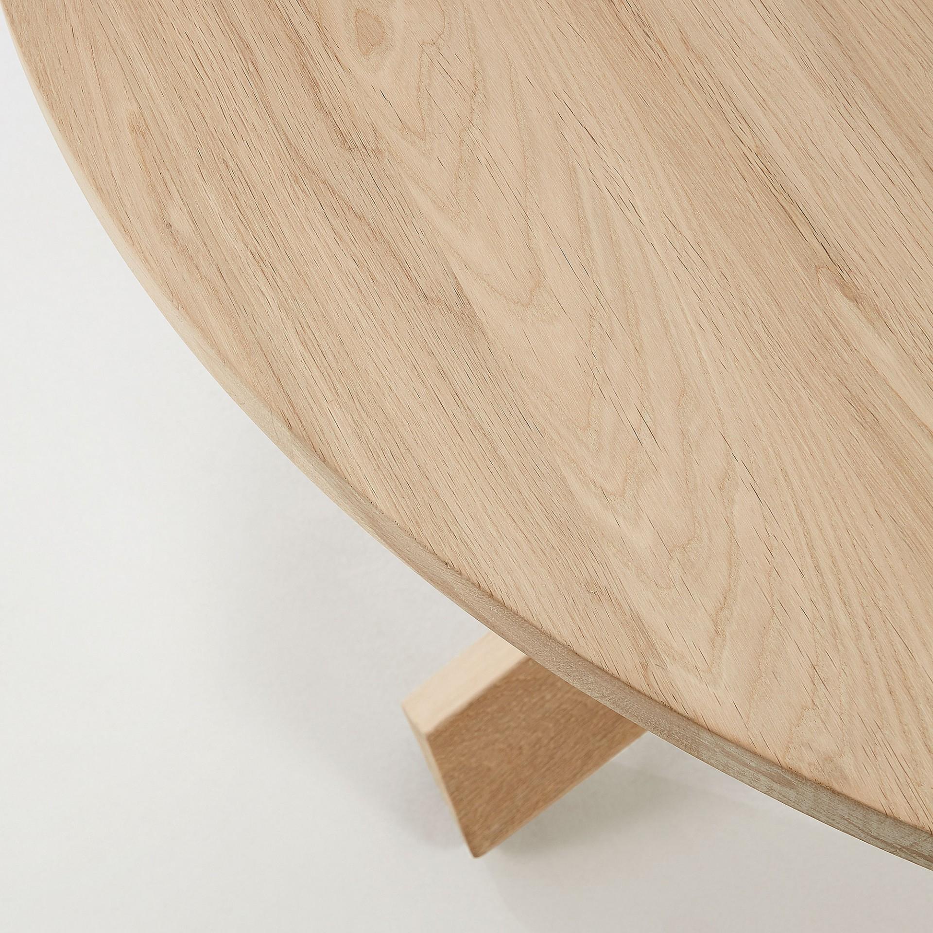 Mesa Latus, madeira de carvalho, Ø120x77