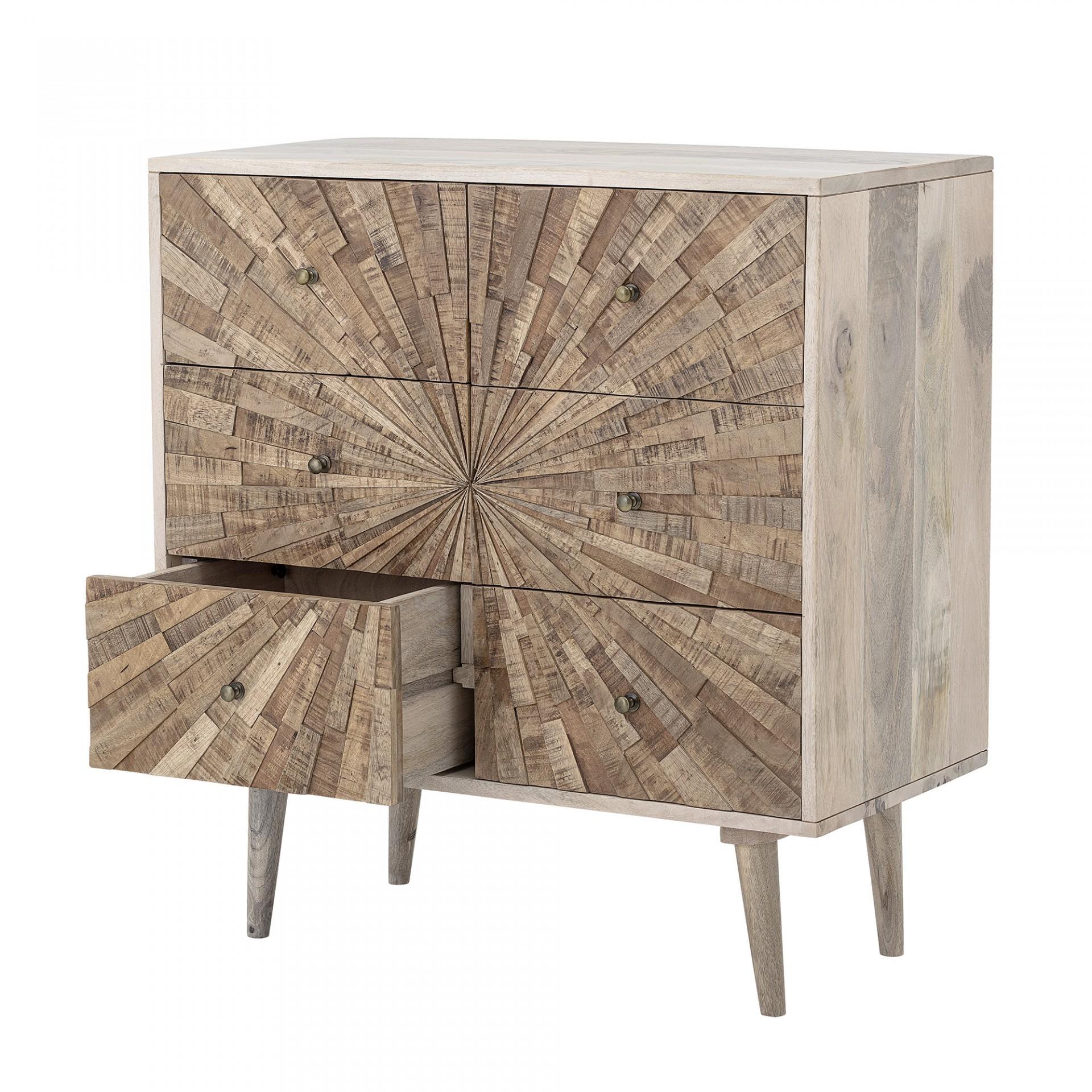 Cómoda Johanna, madeira de manga natural, 80x85