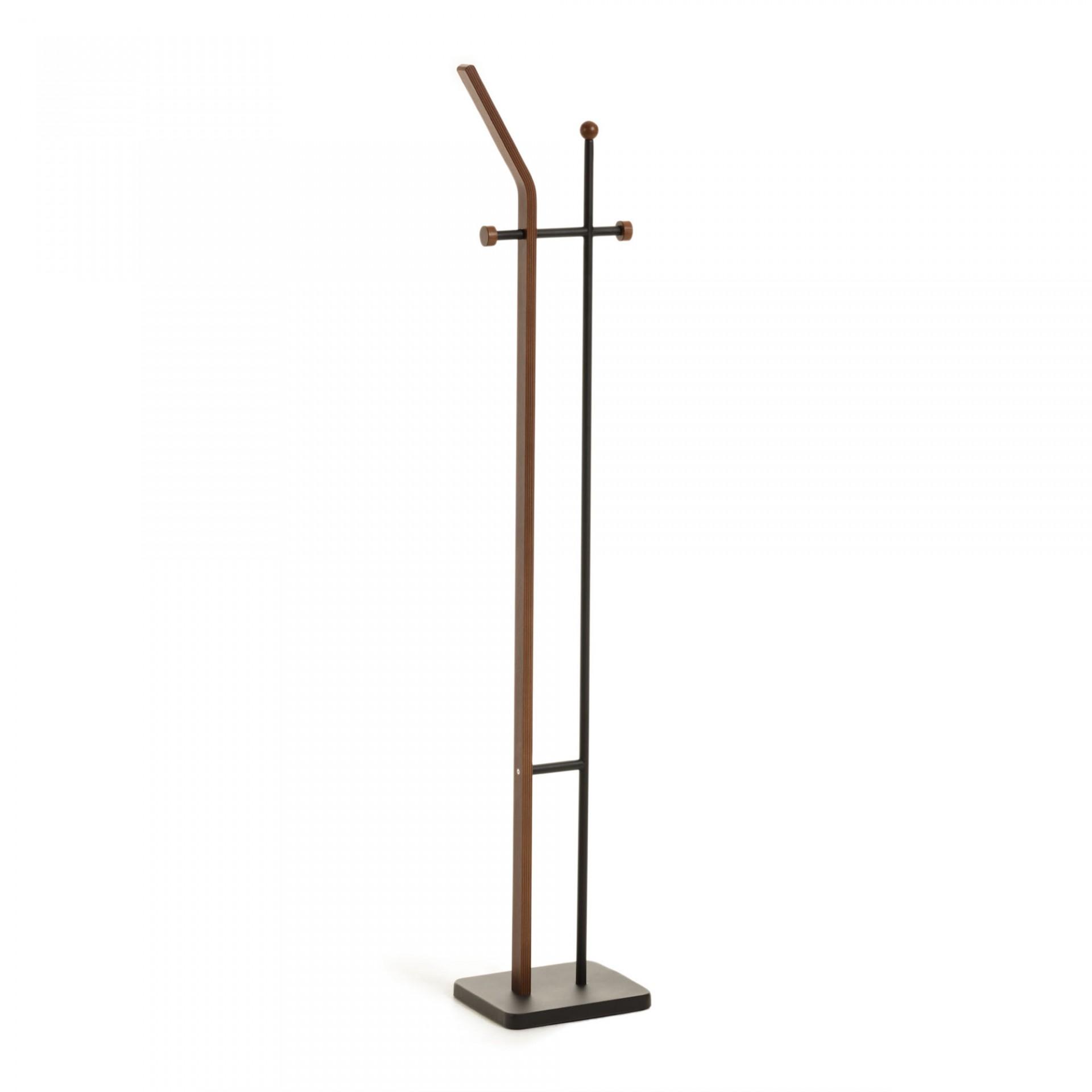 Cabide de pé Migal, madeira/metal, 34x172