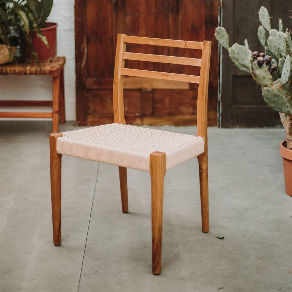Cadeira Ellen, madeira de carvalho natural