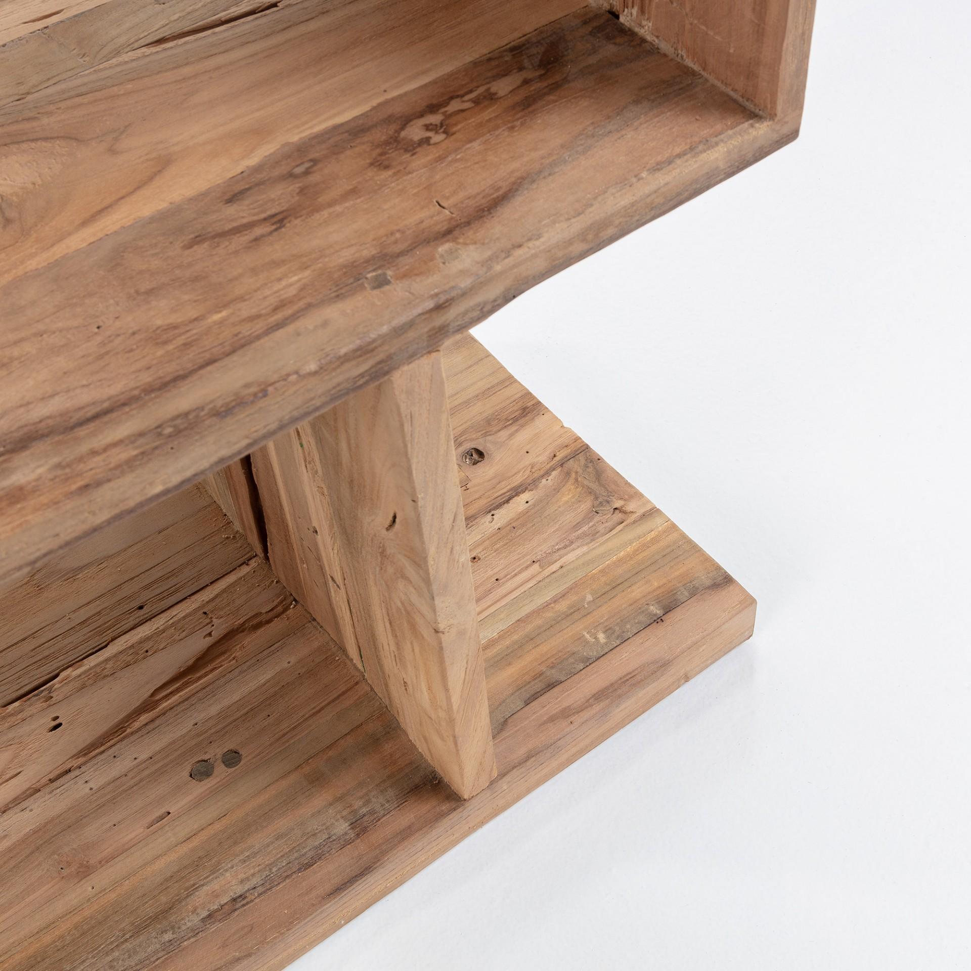 Estante Aruba, madeira de teca reciclada, 55x132