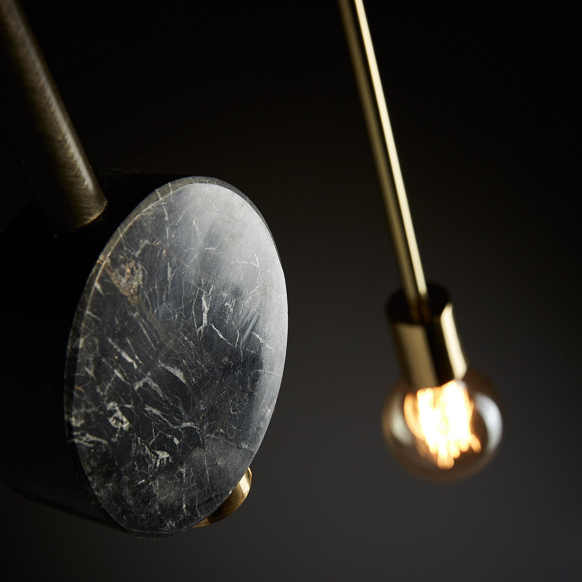 Candeeiro de tecto Hym, metal/mármore, 54X35