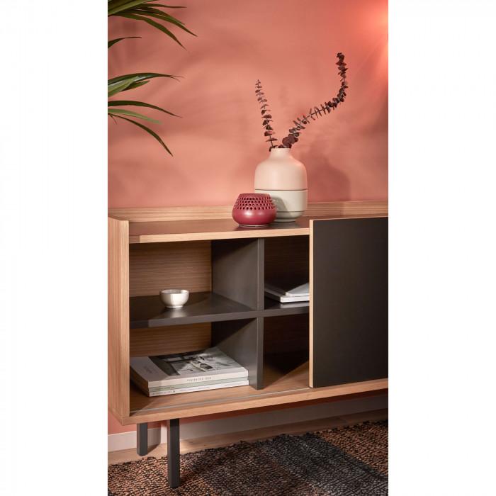 Jarra Lili, cerâmica, rosa/cinza, Ø15x15