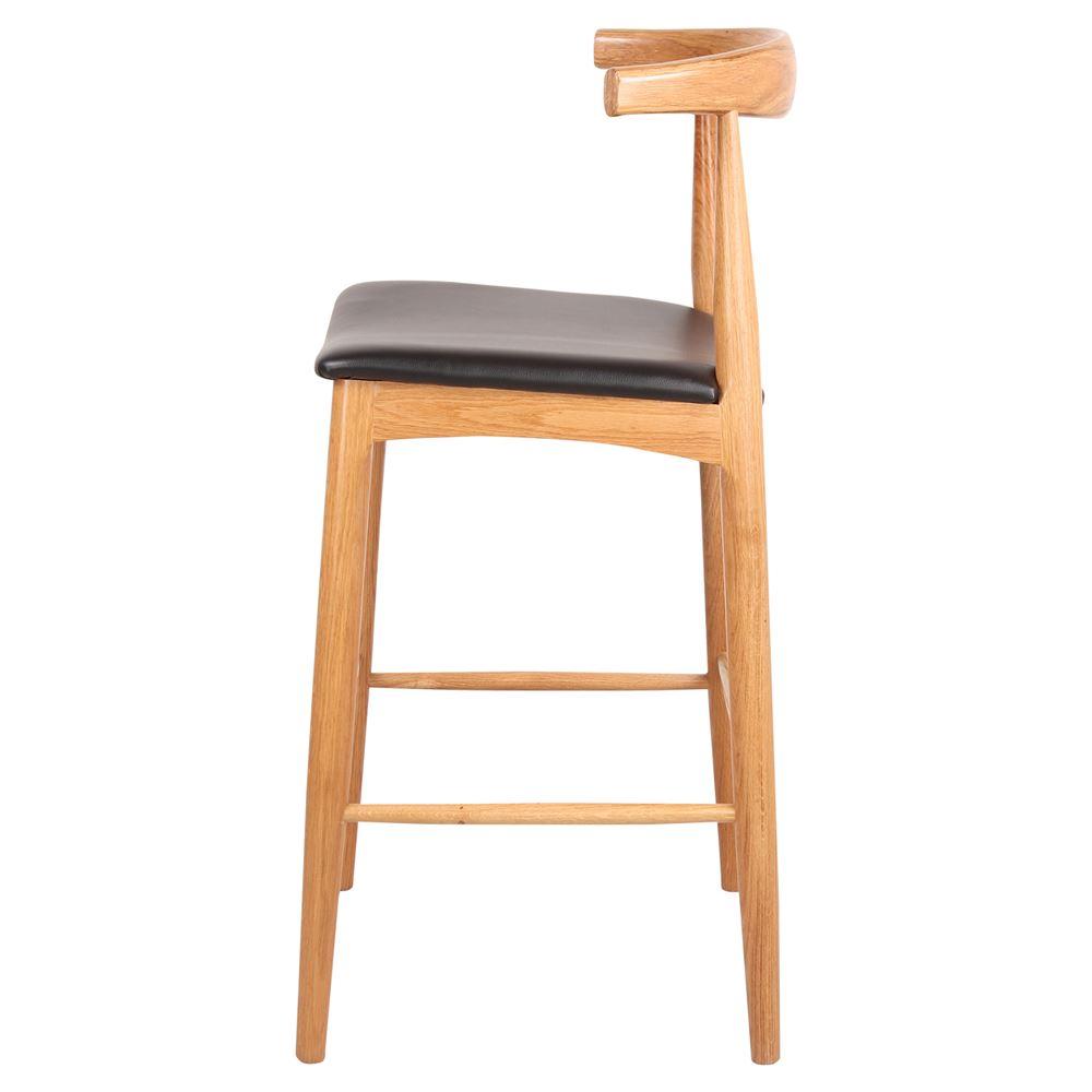 Cadeira de bar Hans, madeira faia, 76cm