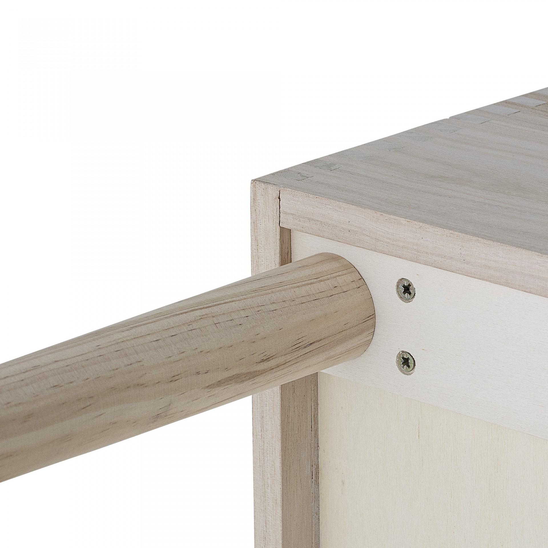 Estante de livros Douve, madeira de pinho/Paulownia