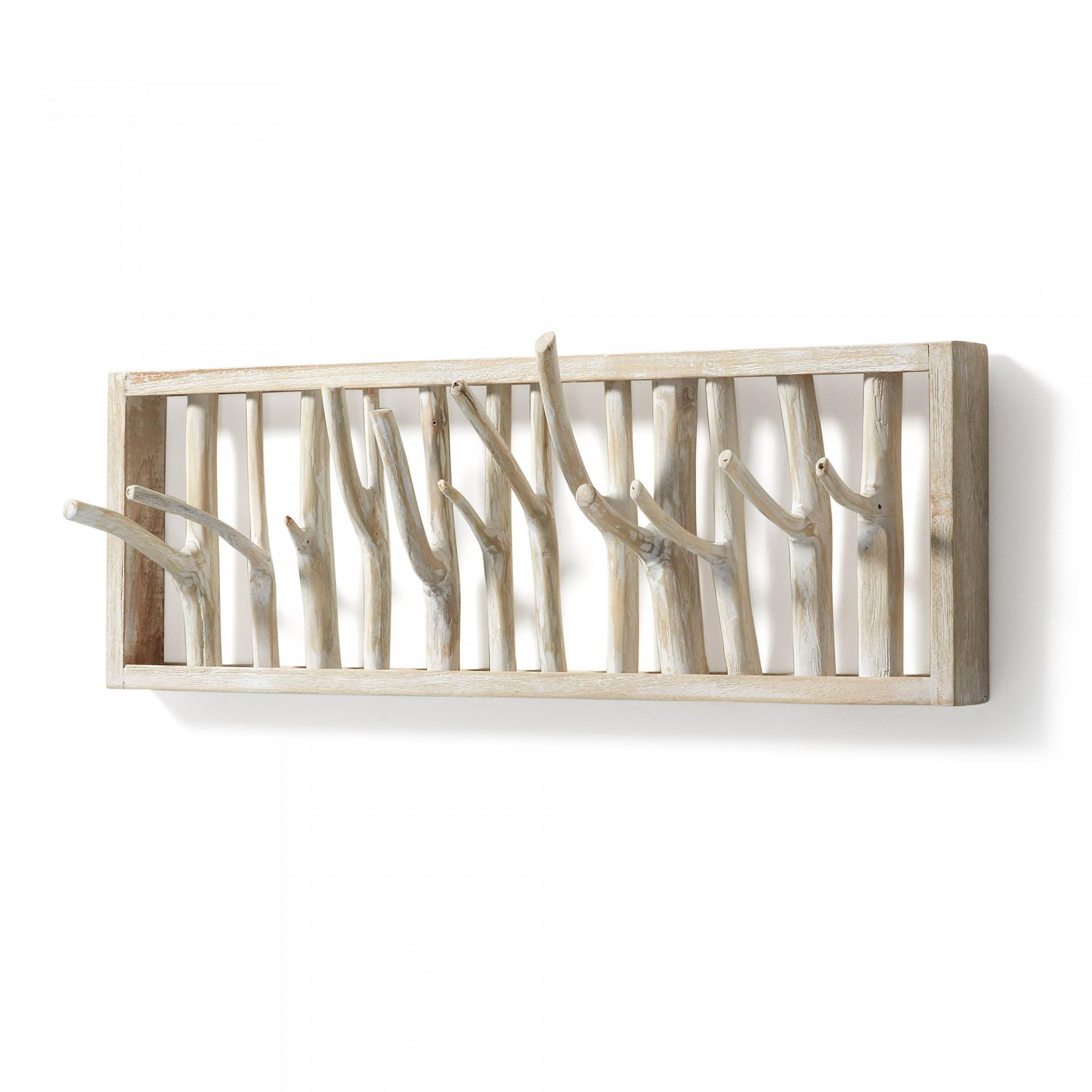 Cabide de parede Munt, ramos de madeira, 60x20