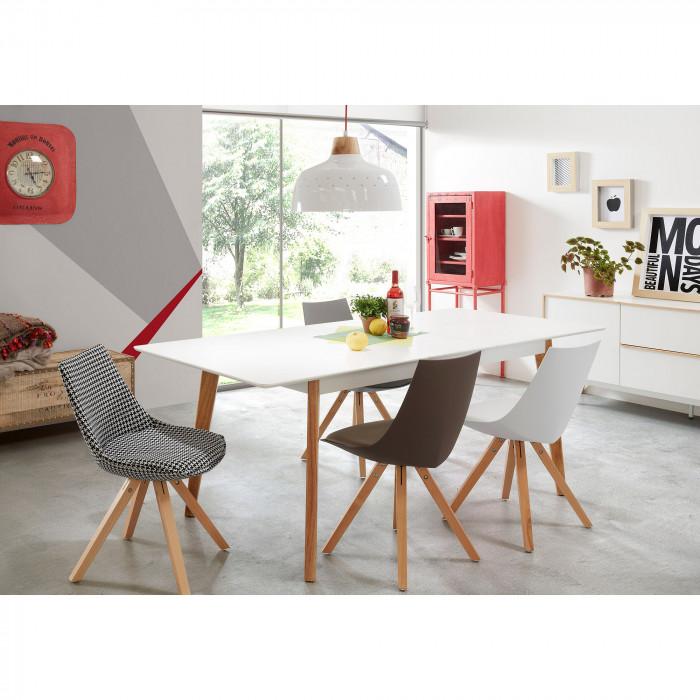 Mesa extensível Melon, madeira de carvalho/MDF lacado, 160(200)x90