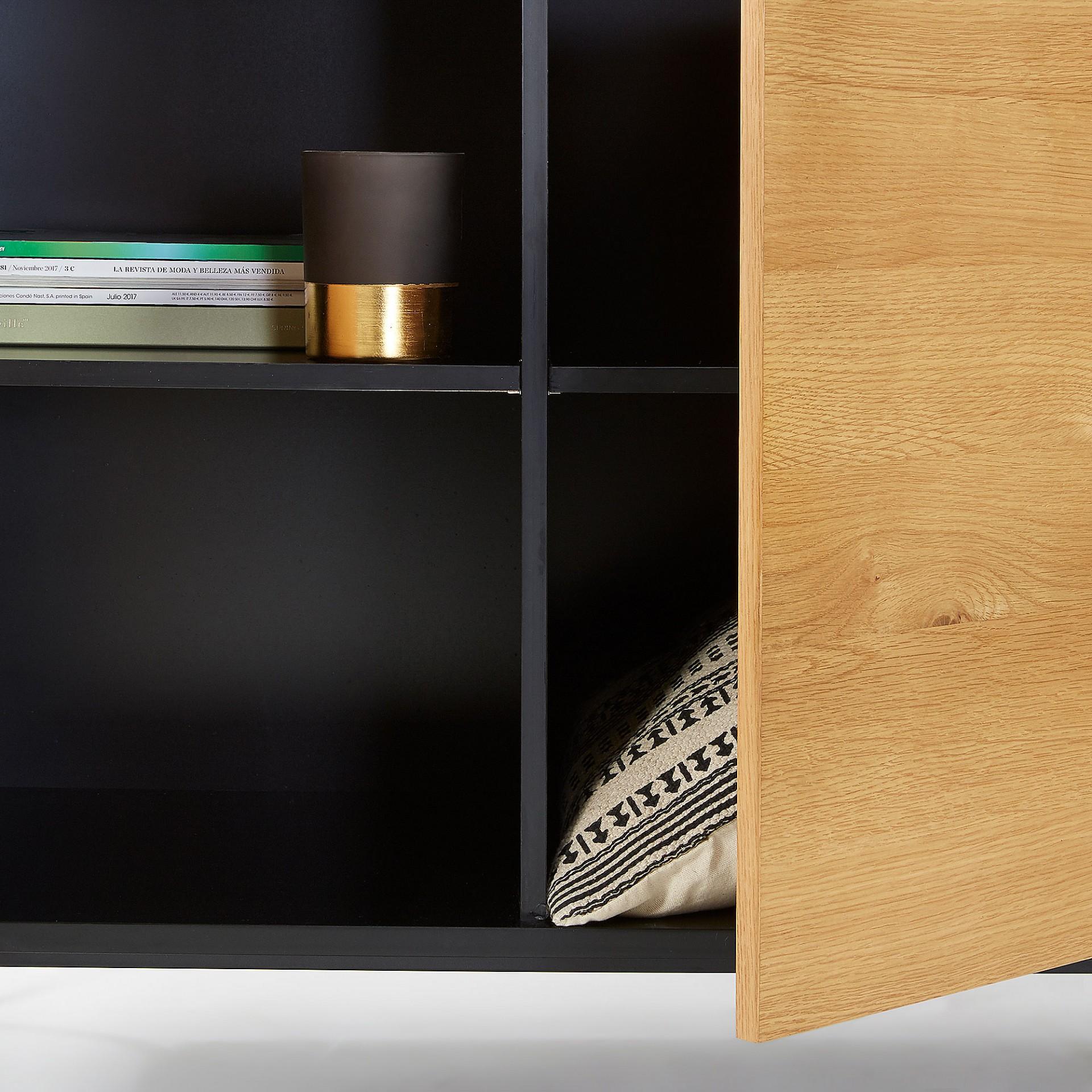 Aparador Sava, madeira de carvalho/MDF lacado, 165x80