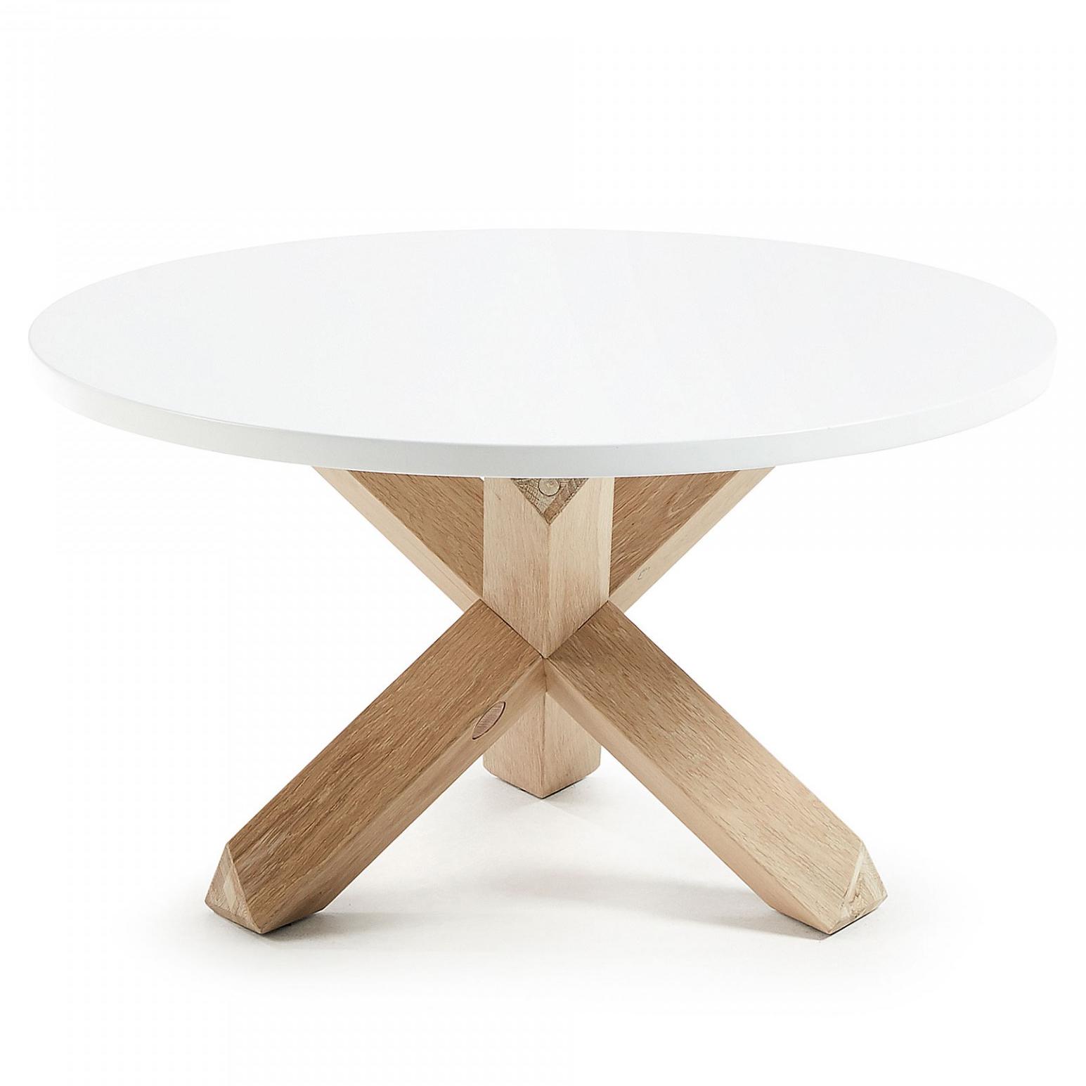 Mesa de centro Latus, madeira de carvalho/MDF lacado, Ø65x45