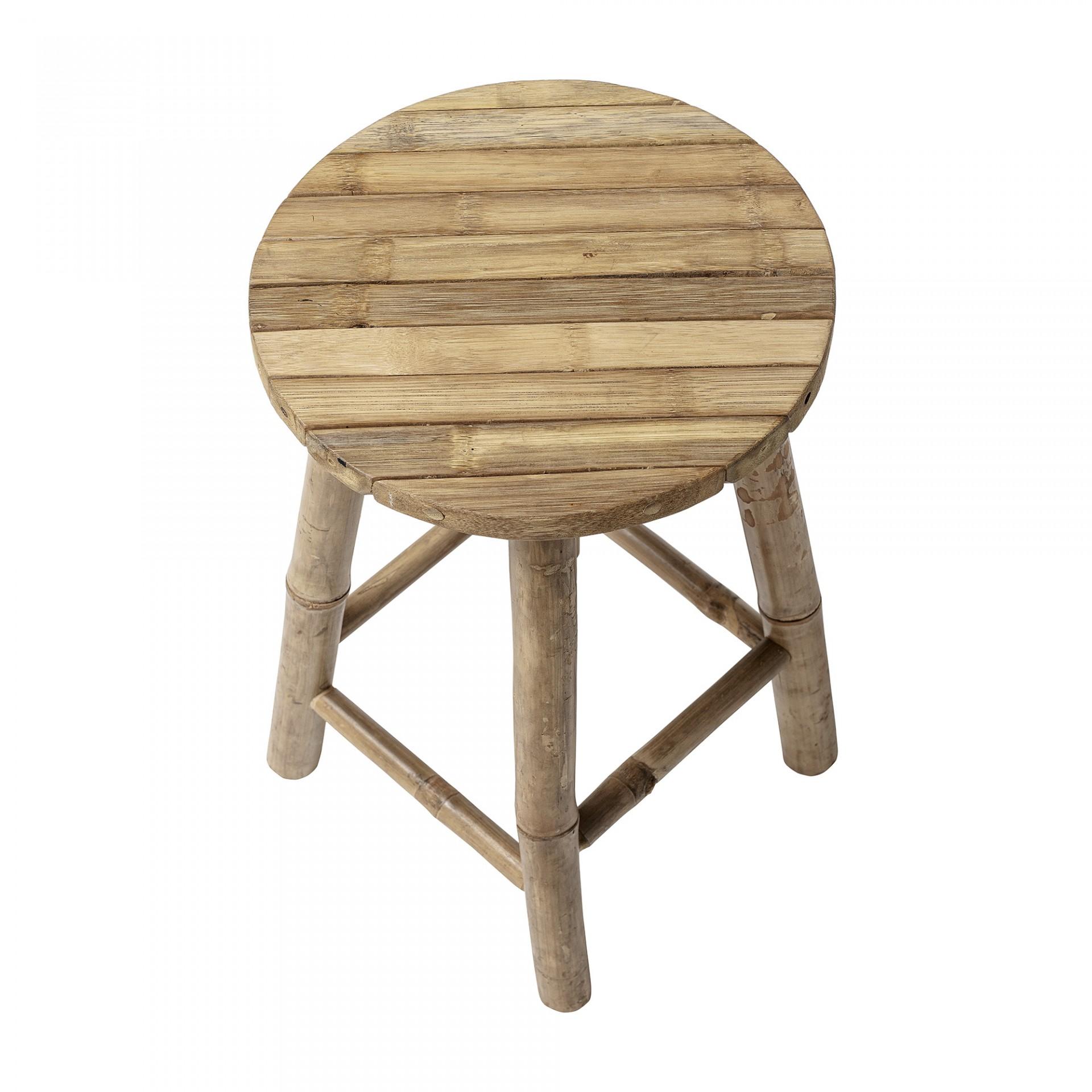 Tamborete Solé, bambu, Ø30x50