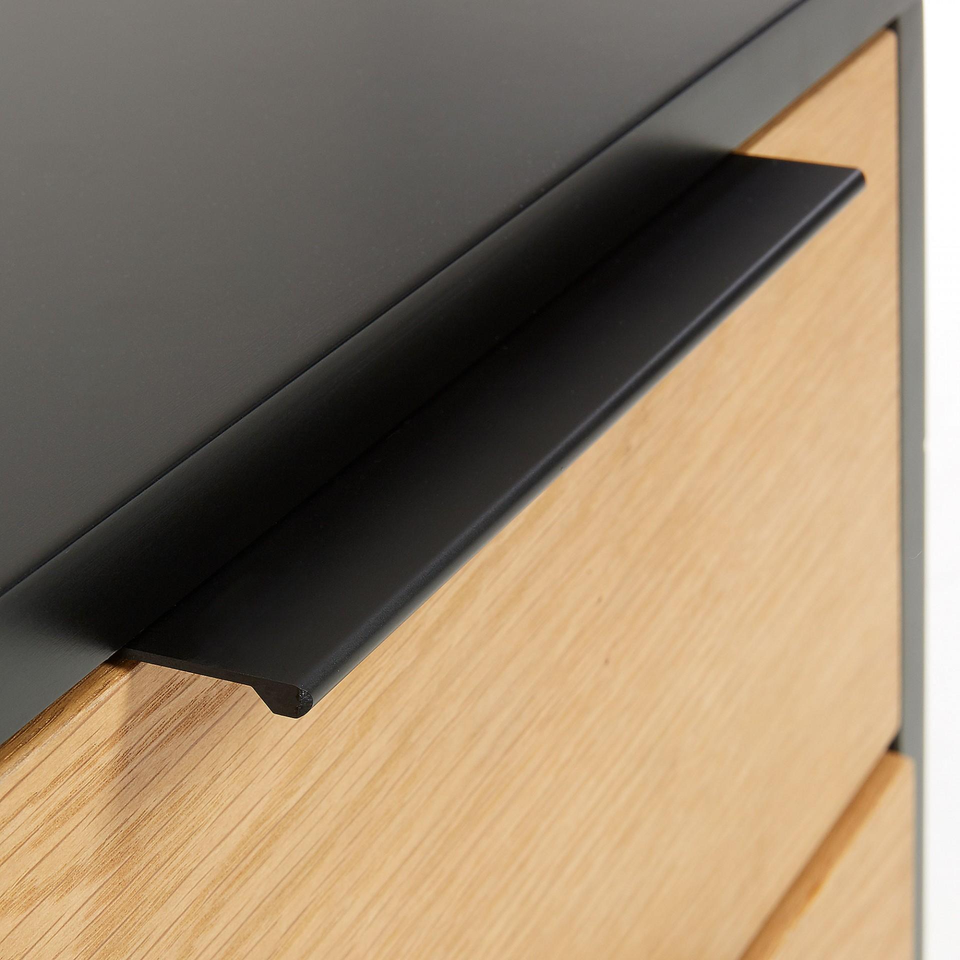 Mesa de cabeceira Sava, madeira de carvalho/MDF lacado, 42x50