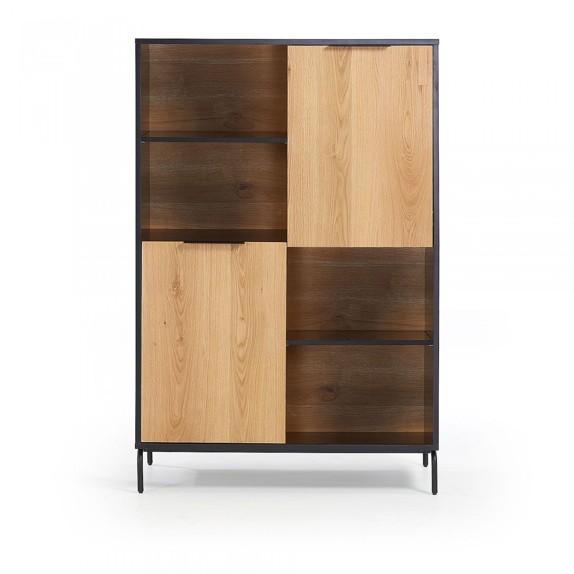 Estante Sava, madeira de carvalho/MDF lacado, 100x150
