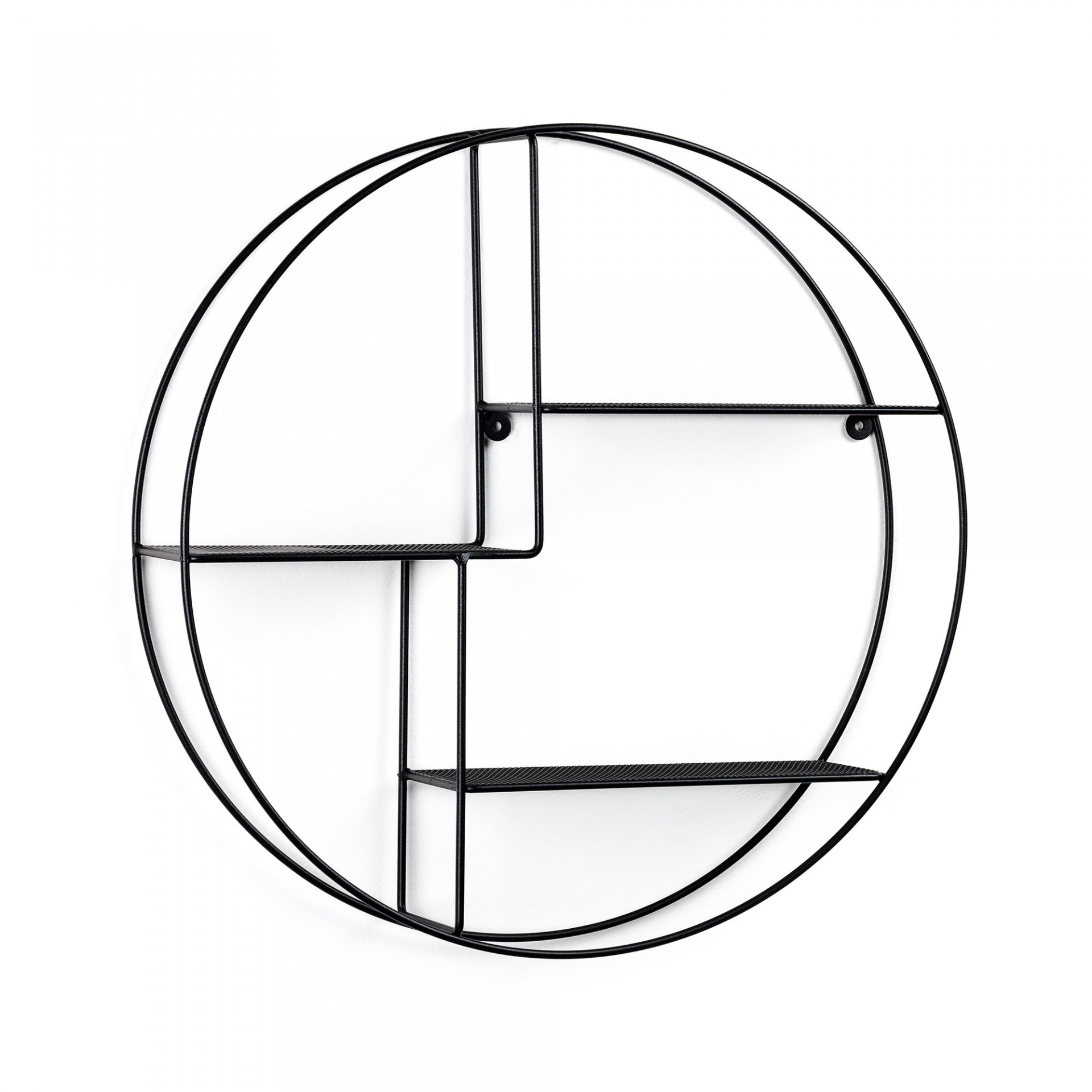 Estante de parede Cross, metal, preto, Ø55X12