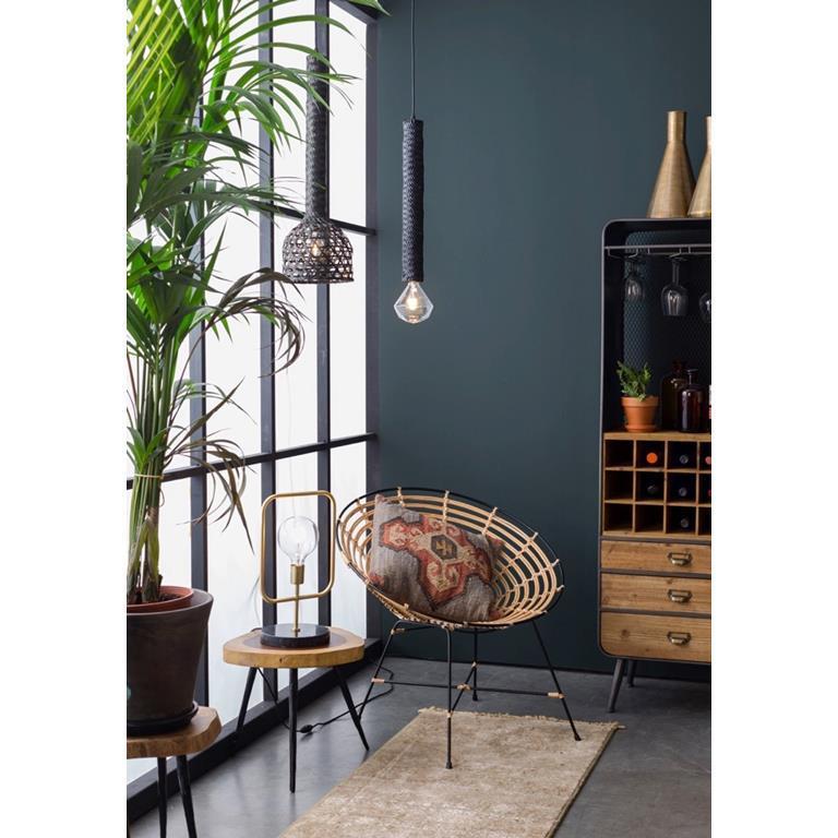 Candeeiro de tecto Boom, bambu natural, Ø22,5x75