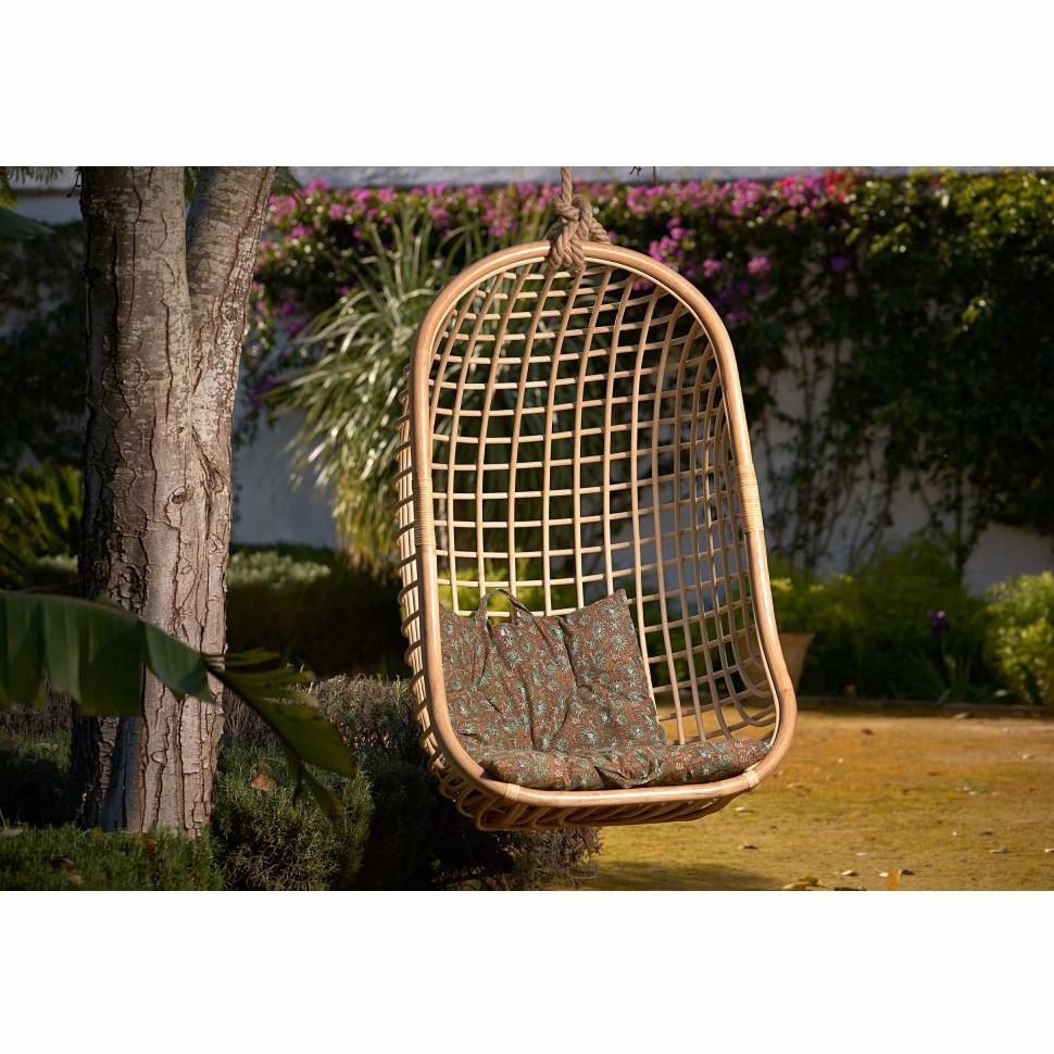 Cadeira suspensa Alis, bambu natural, 70x118