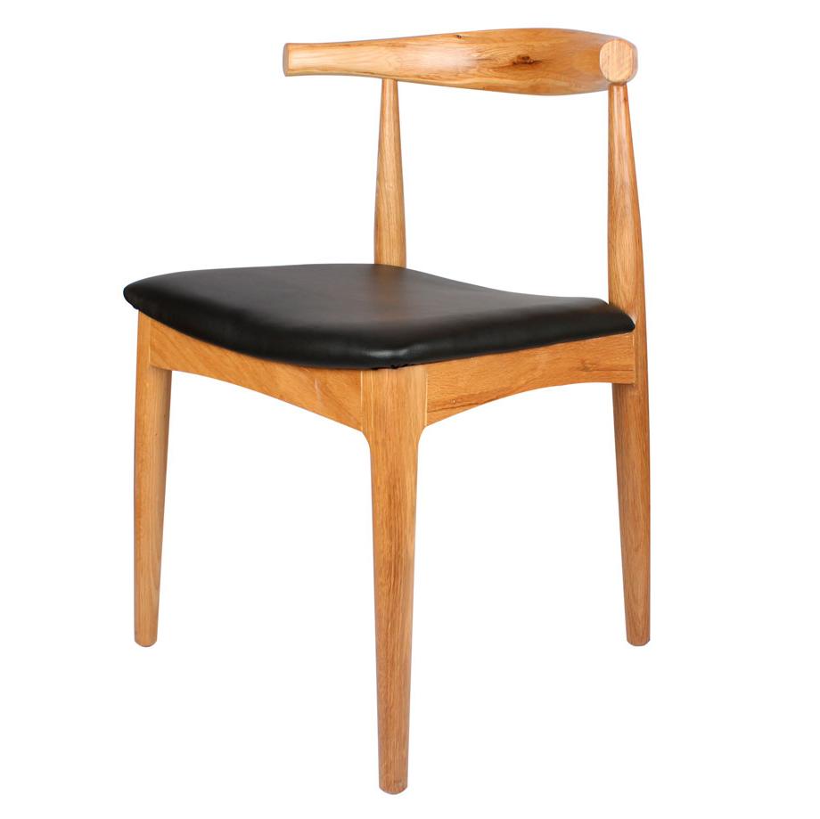 Cadeira Elbow, madeira faia/couro