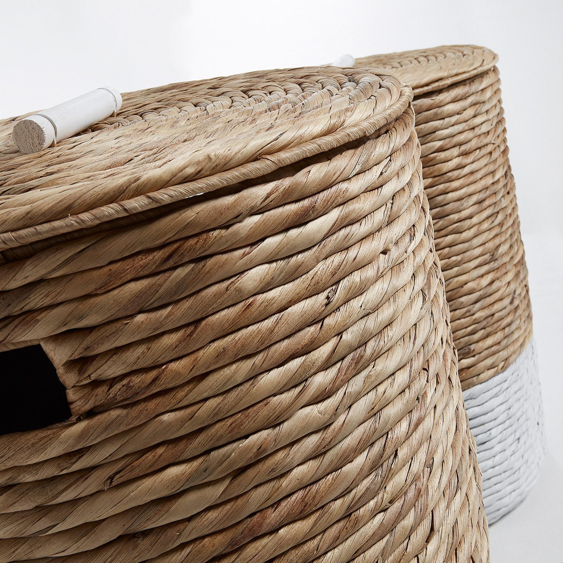 Cestos de roupa Matt, jacinto-de-água, (Conj.2)
