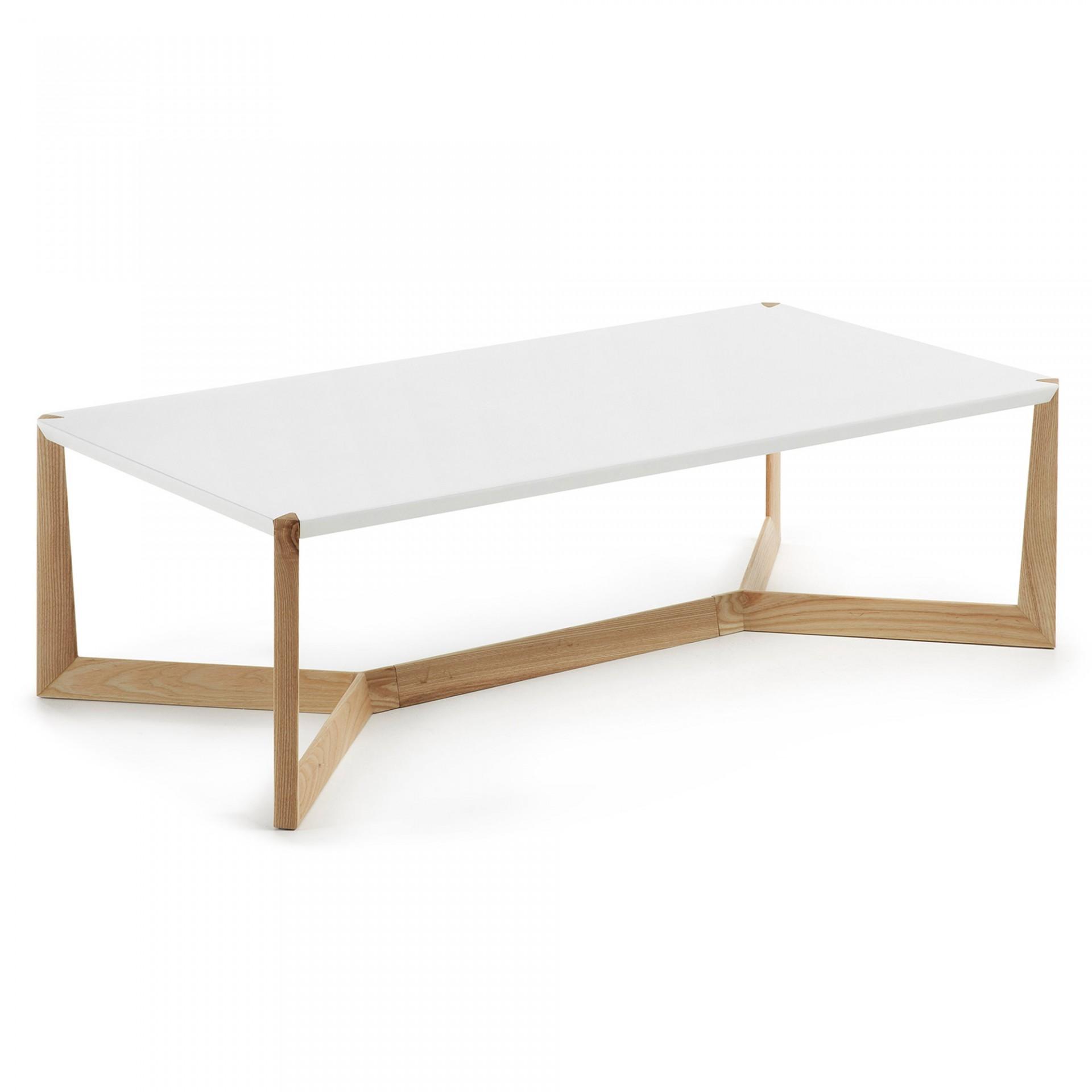 Mesa de centro Quato, madeira de freixo/MDF lacado