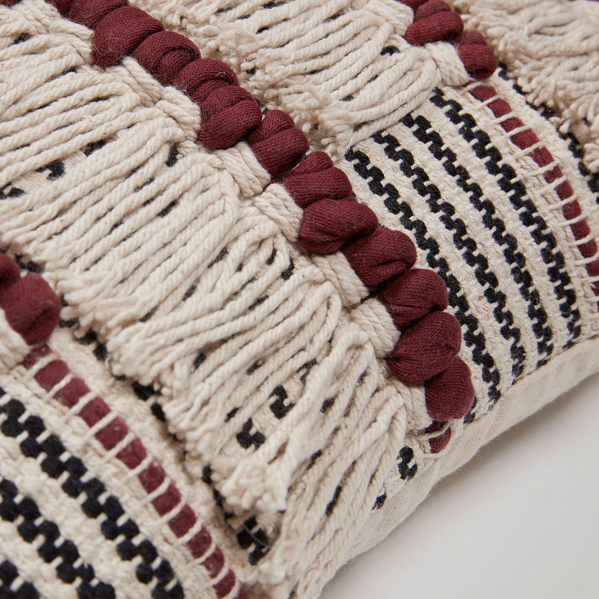 Capa de almofada Noth, c/franjas, 45x45