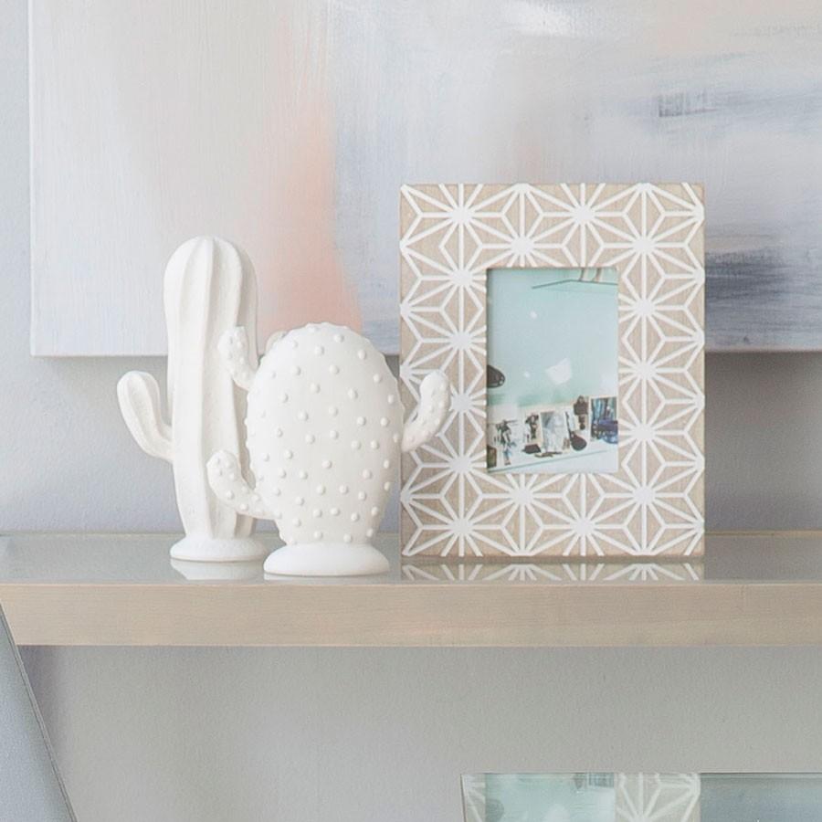 Cactos em porcelana, branco, (Conj.3)