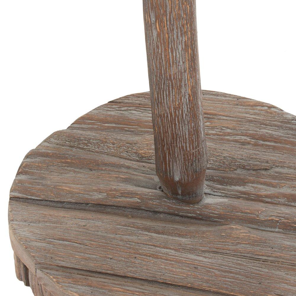 Cabide de pé Natty, madeira natural, 43x43x178