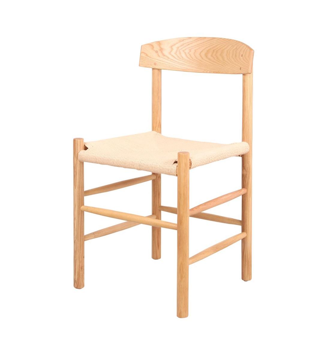 Cadeira Borg, madeira de freixo natural