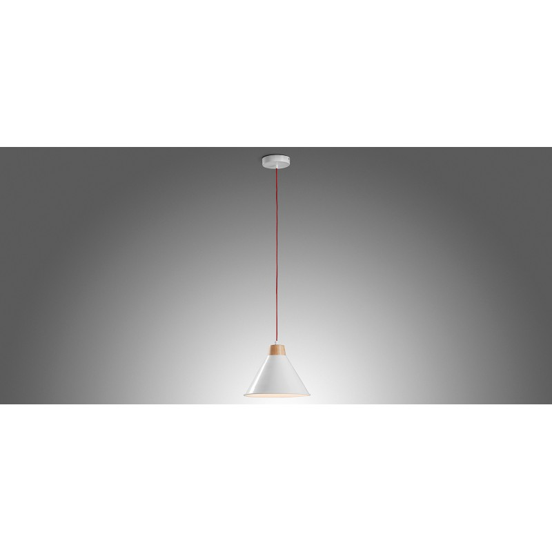 Candeeiro de tecto Bobs, metal, branco, Ø28x18