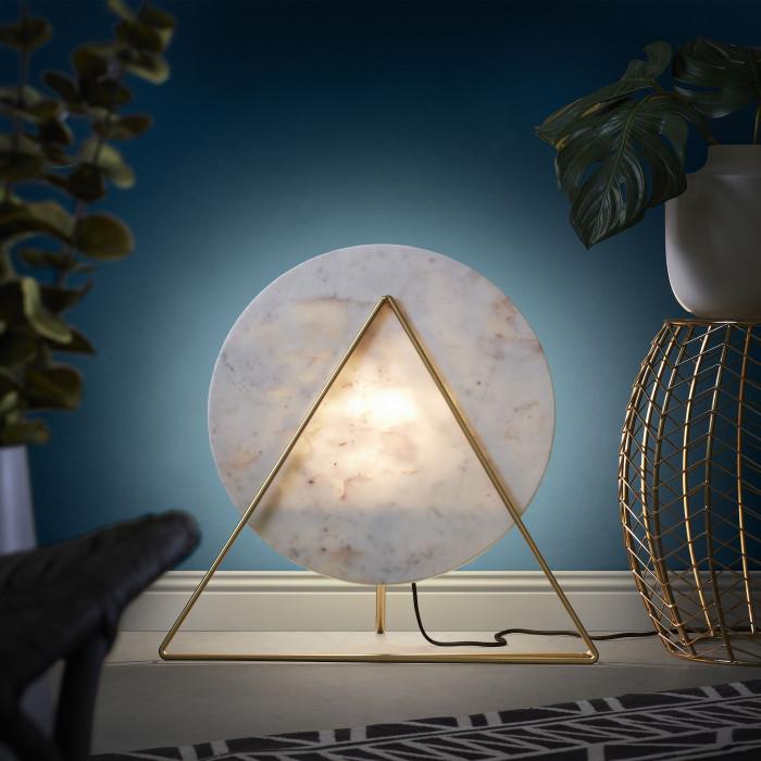 Mesa de apoio Roni, metal, dourado, Ø46x44