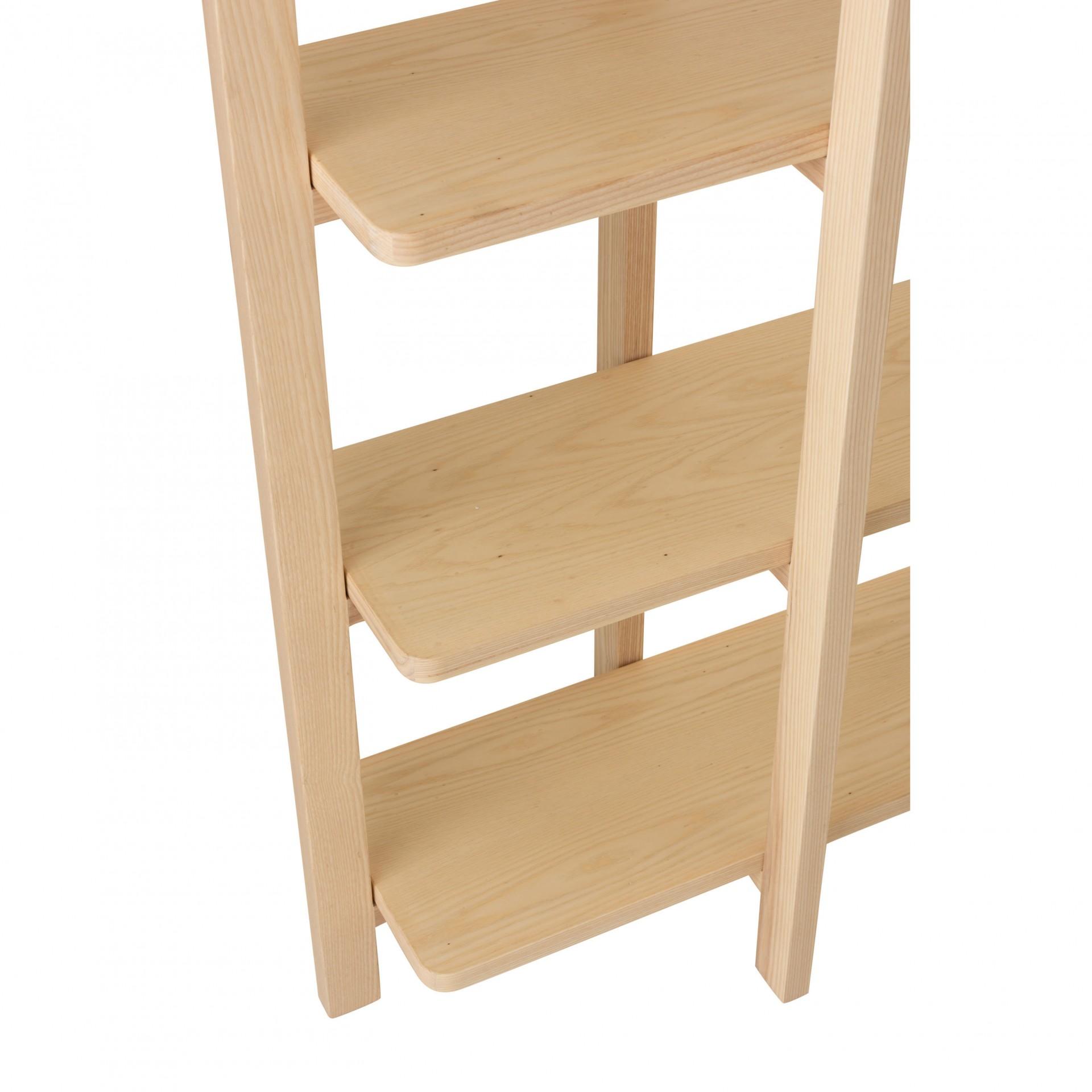 Estante Scandi, madeira de pinho, 200x201