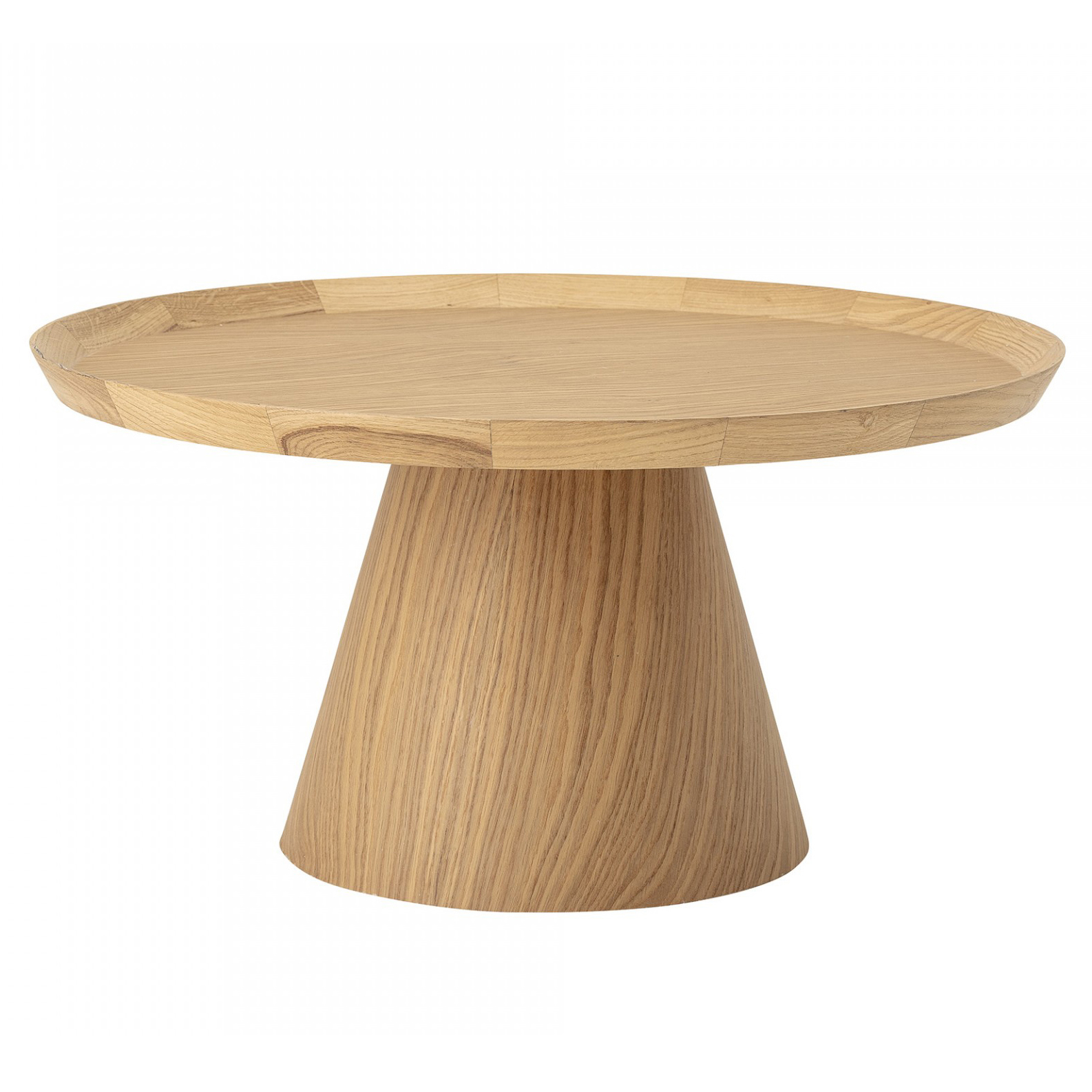 Mesa de centro Luana, madeira de carvalho natural, Ø74x37