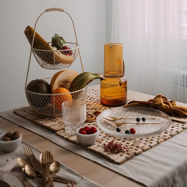 Individuais de mesa, madeira teca, 45x30, (Conj.2)