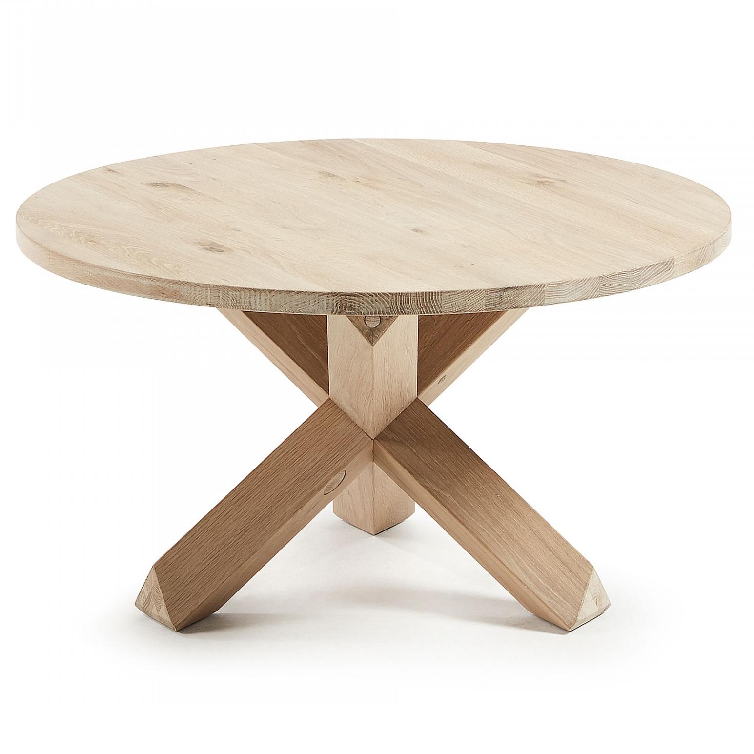 Mesa de centro Latus, madeira de carvalho natural, Ø65x45
