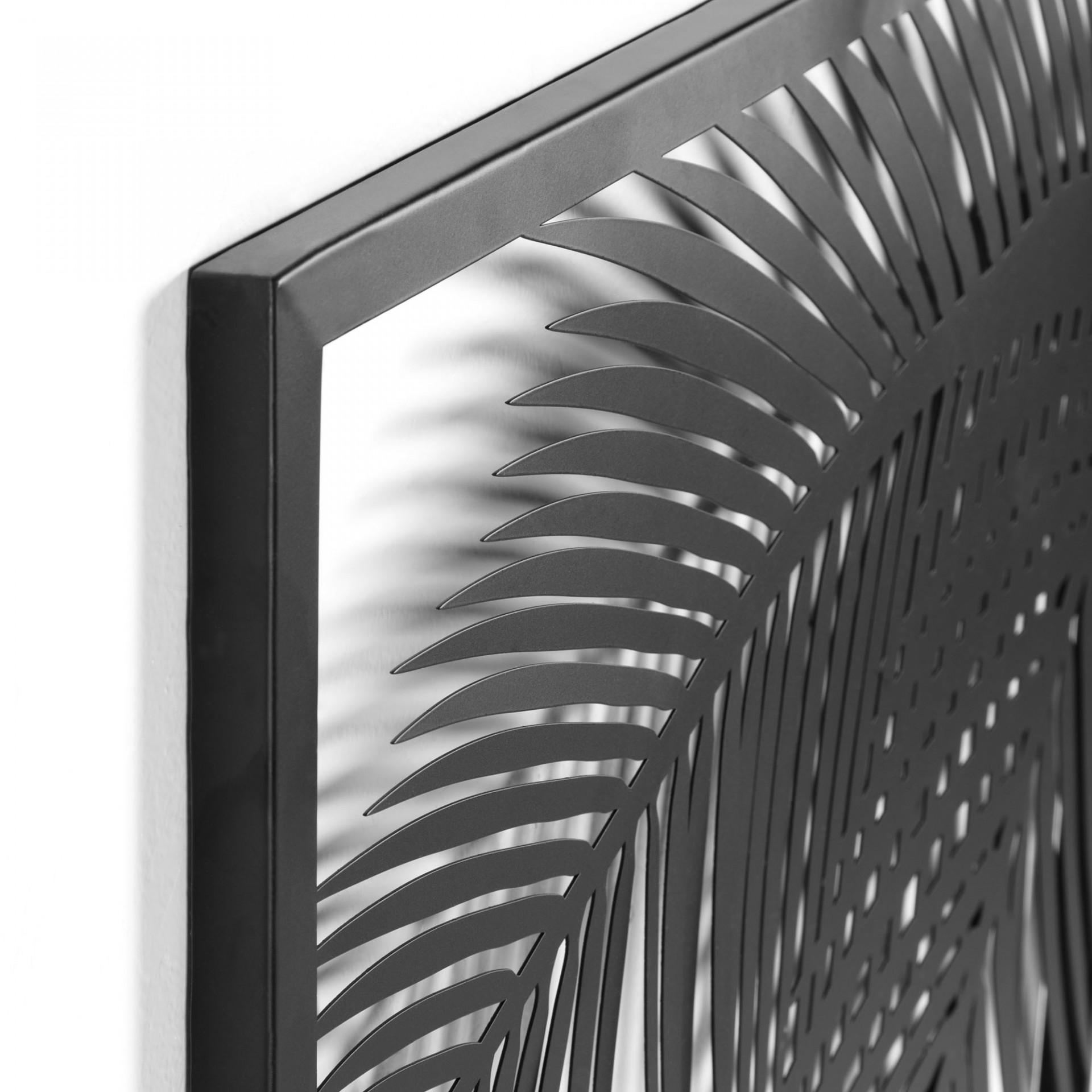 Quadro de parede Denia, metal, preto, 100x74