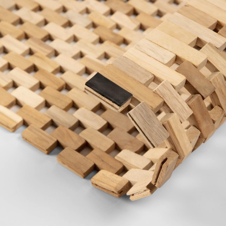 Tapete p/casa de banho, madeira teca, 60x40